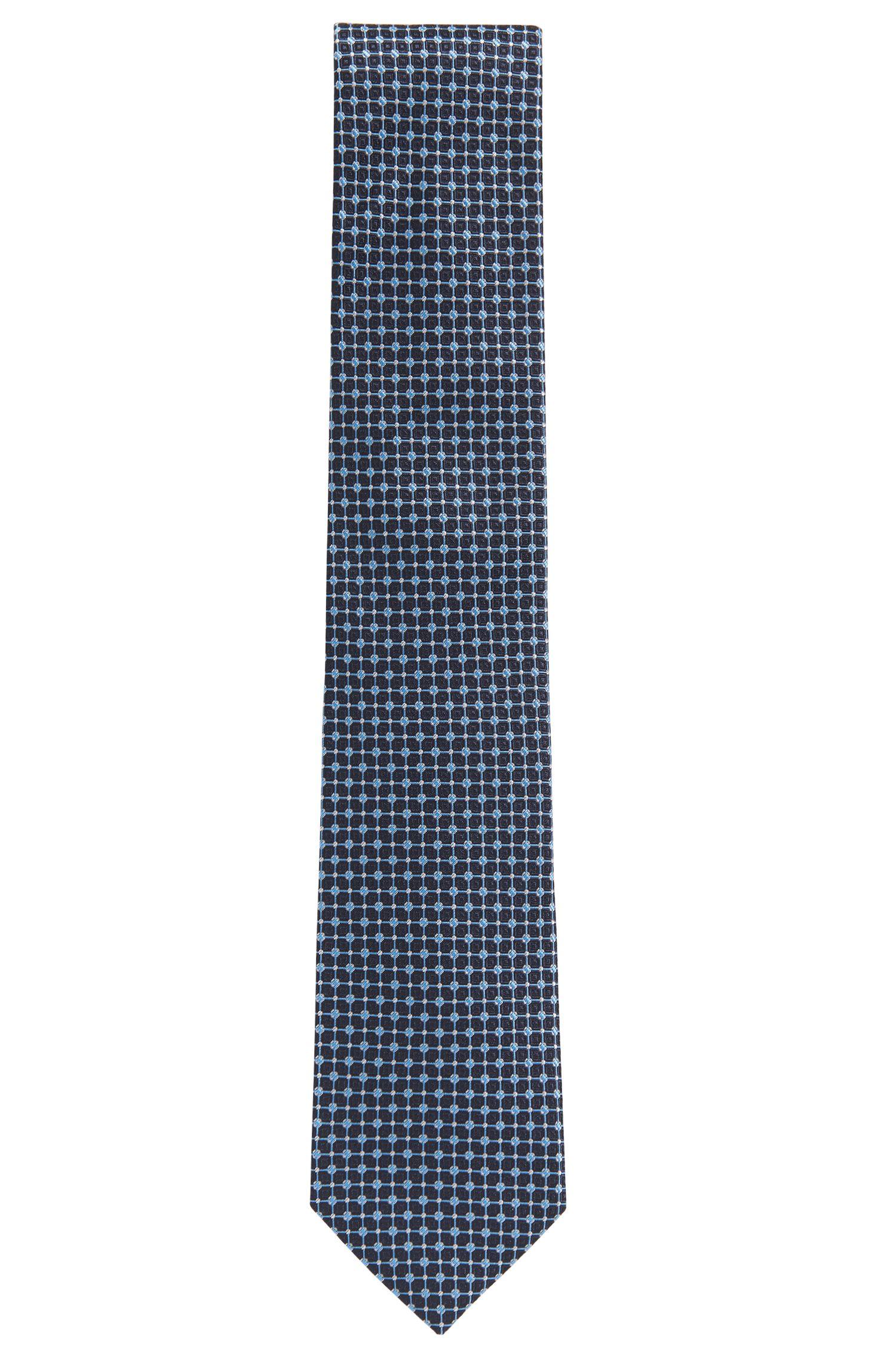 Patterned tie in silk jacquard HUGO BOSS