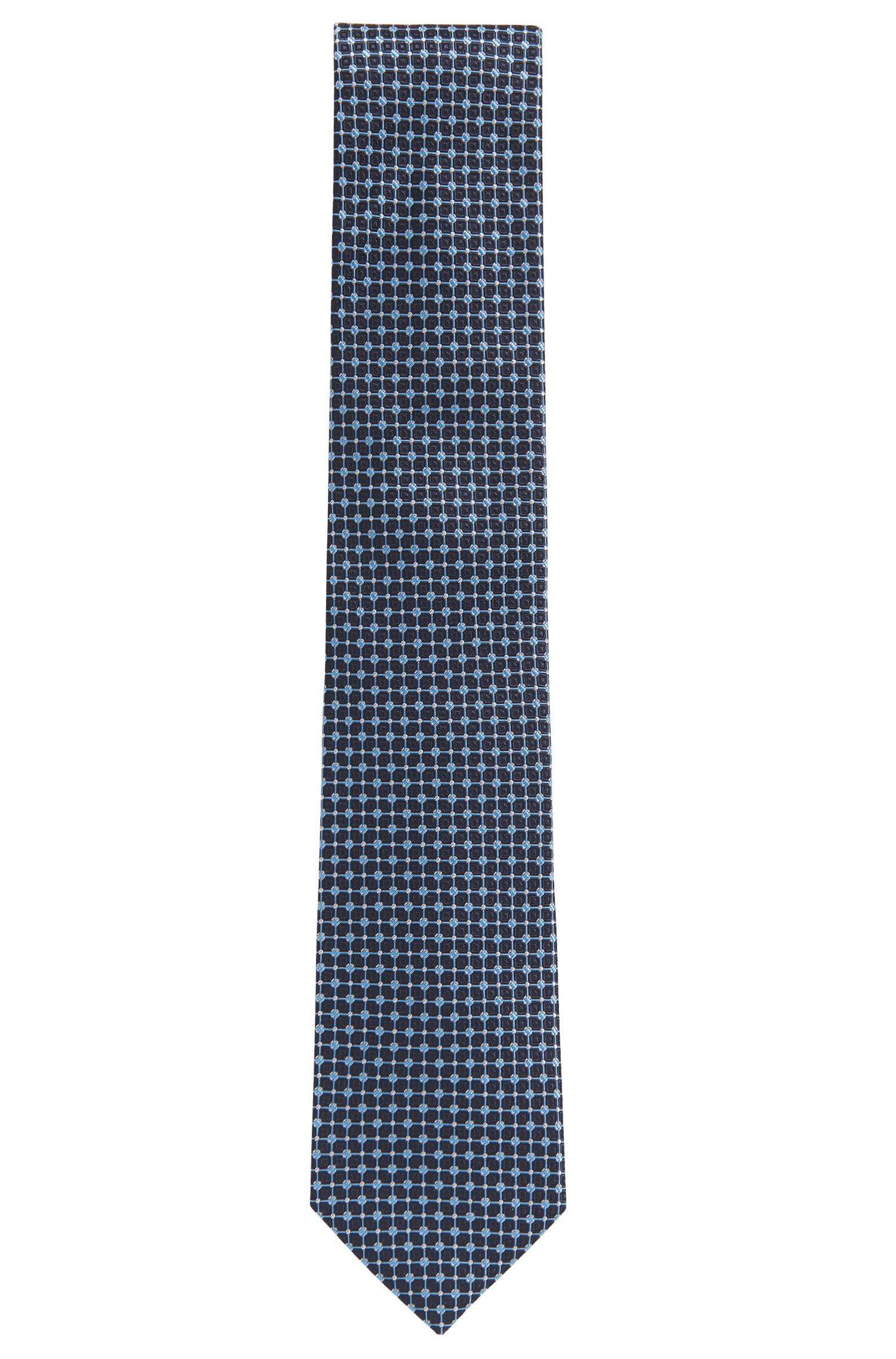 Micro-patterned tie in Italian silk jacquard
