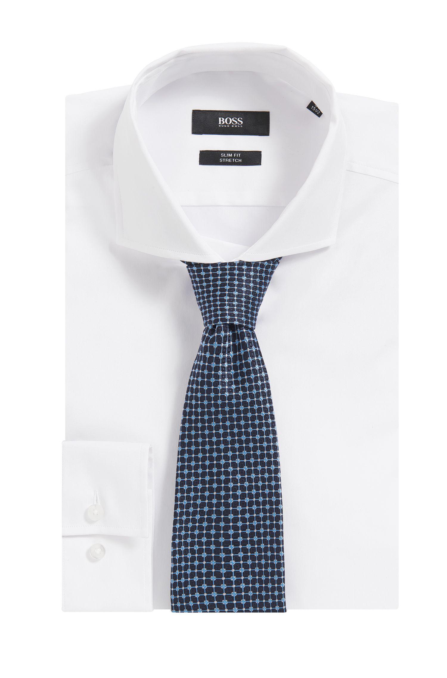 Gemusterte Krawatte aus italienischem Seiden-Jacquard