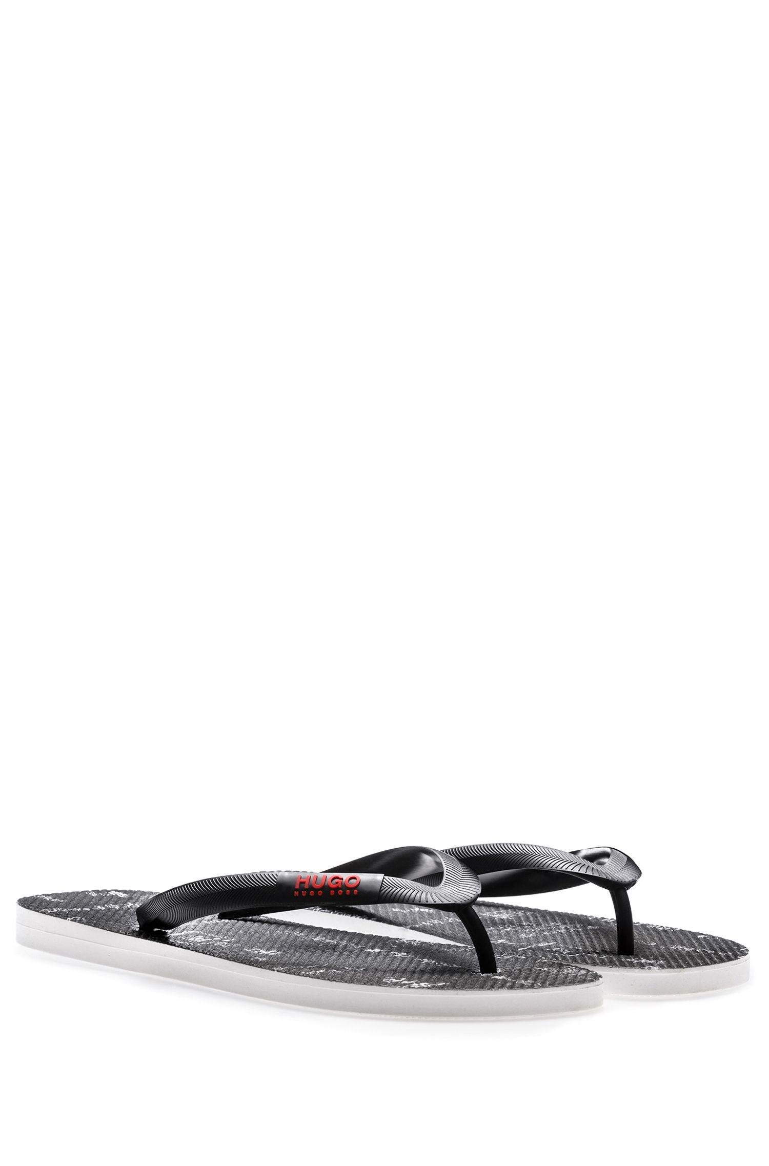Toe-post flip-flops with seasonal artwork HUGO BOSS