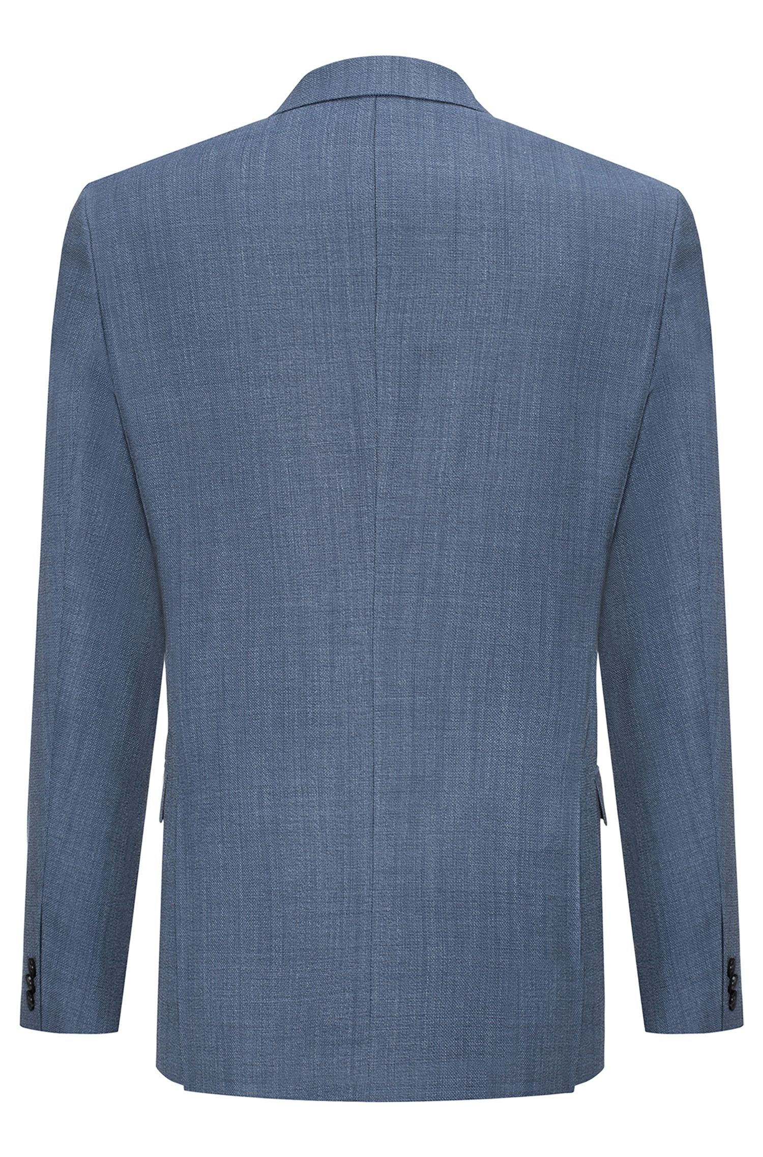 Extra slim-fit colbert van wol in panamabinding