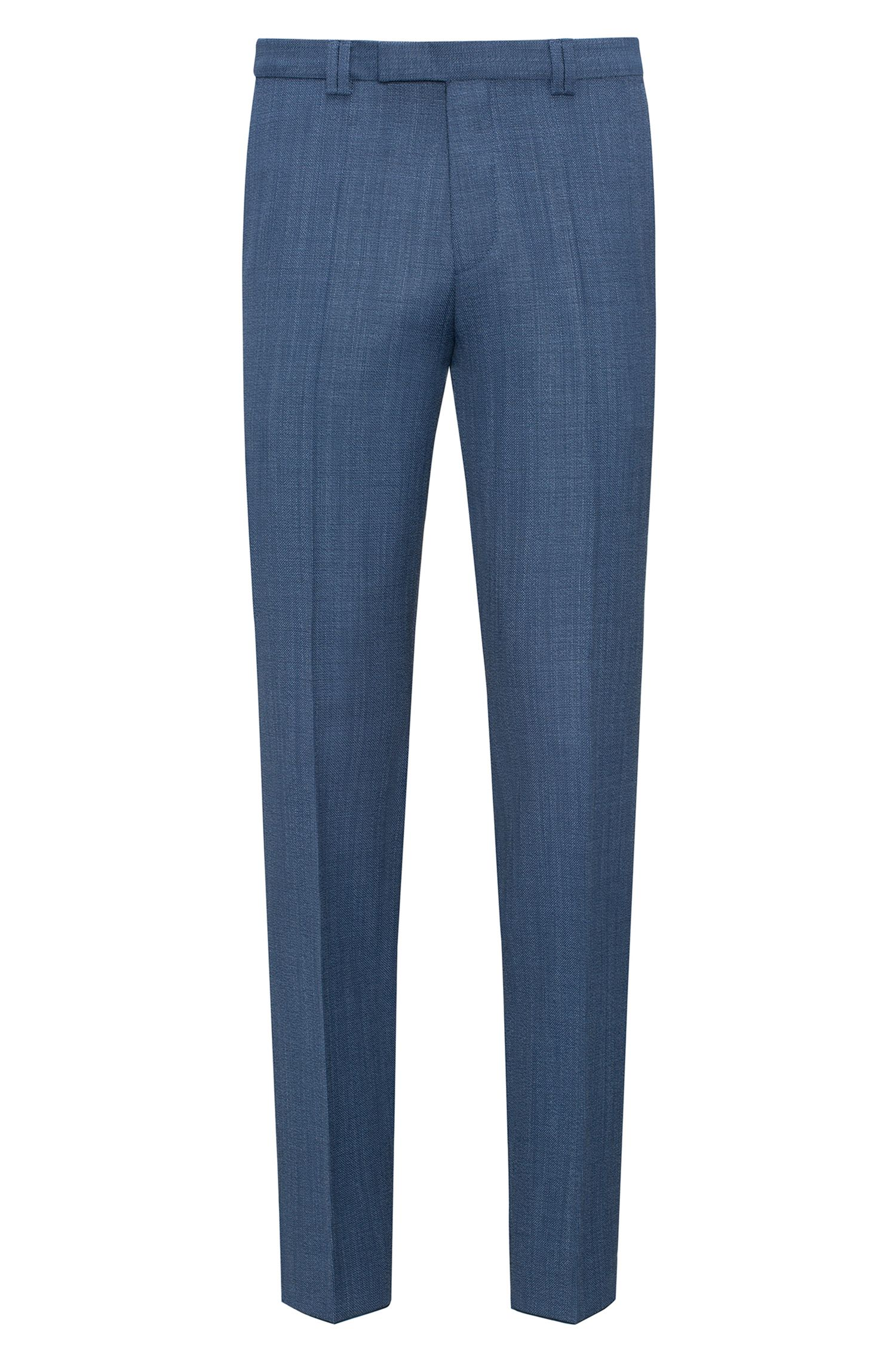 Extra-slim-fit trousers in basket-weave wool
