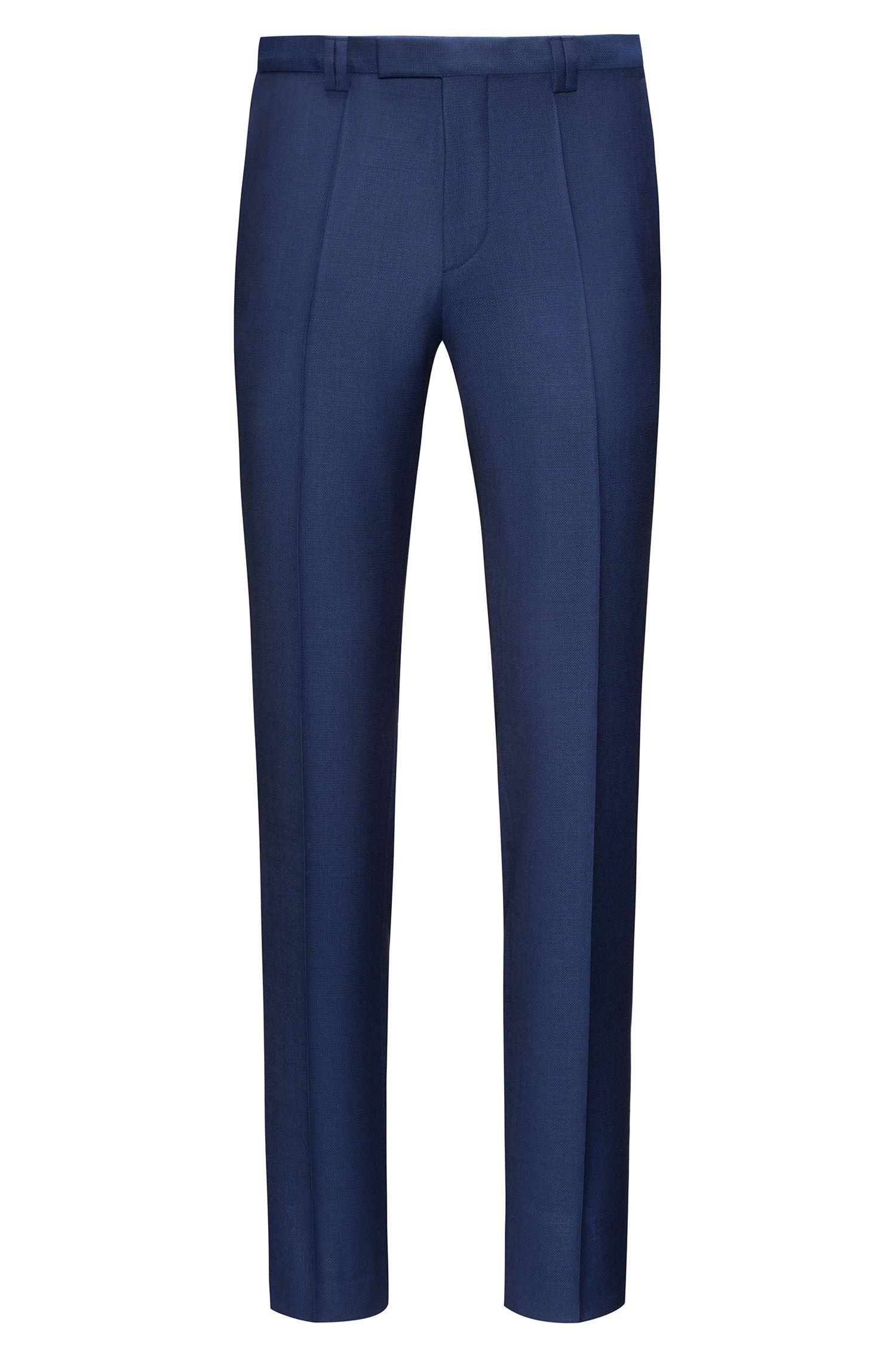 Pantaloni extra slim fit in lana effetto nattè