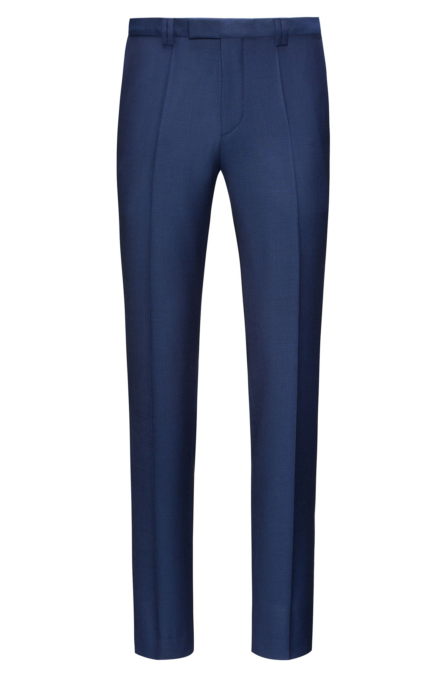 Pantalones extra slim fit en lana entretejida