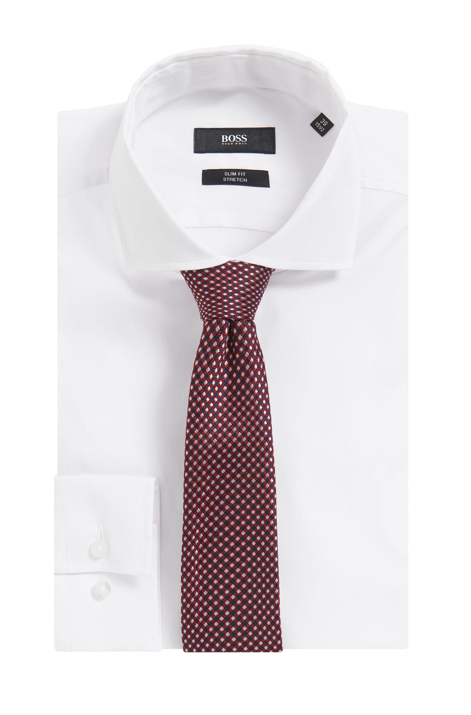 In Italië vervaardigde stropdas in een jacquard van zijde