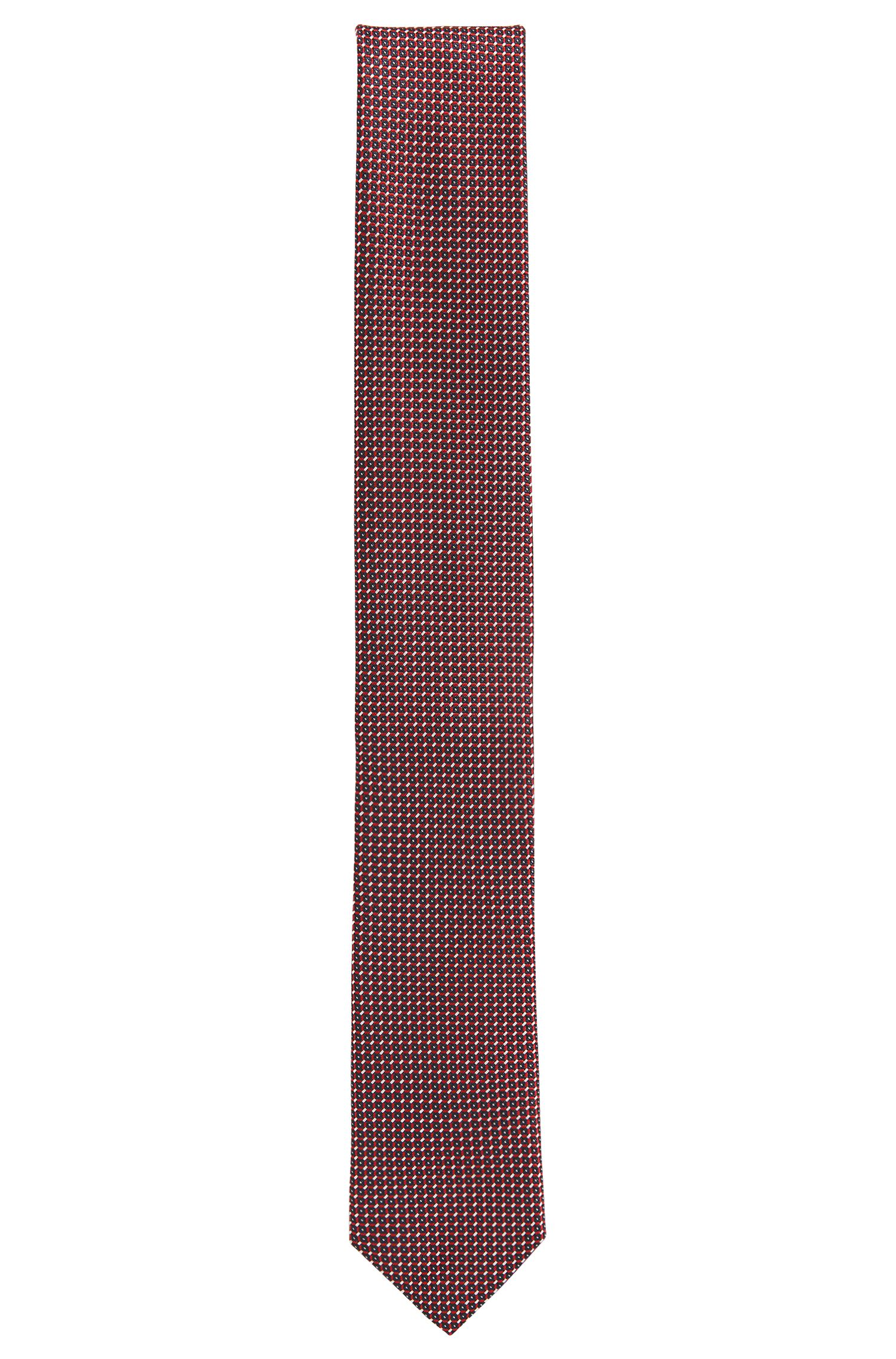 Silk-jacquard tie made in Italy