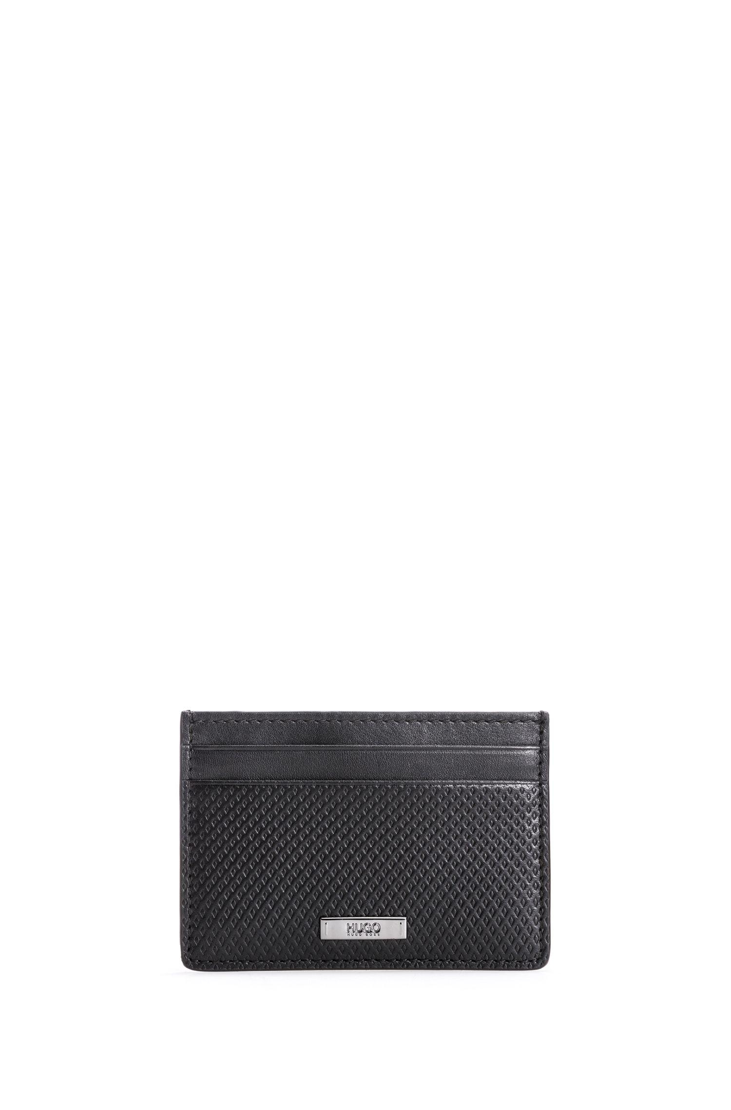 Portefeuille et porte-cartes en cuir à motif géométrique embossé SPoCgNpy