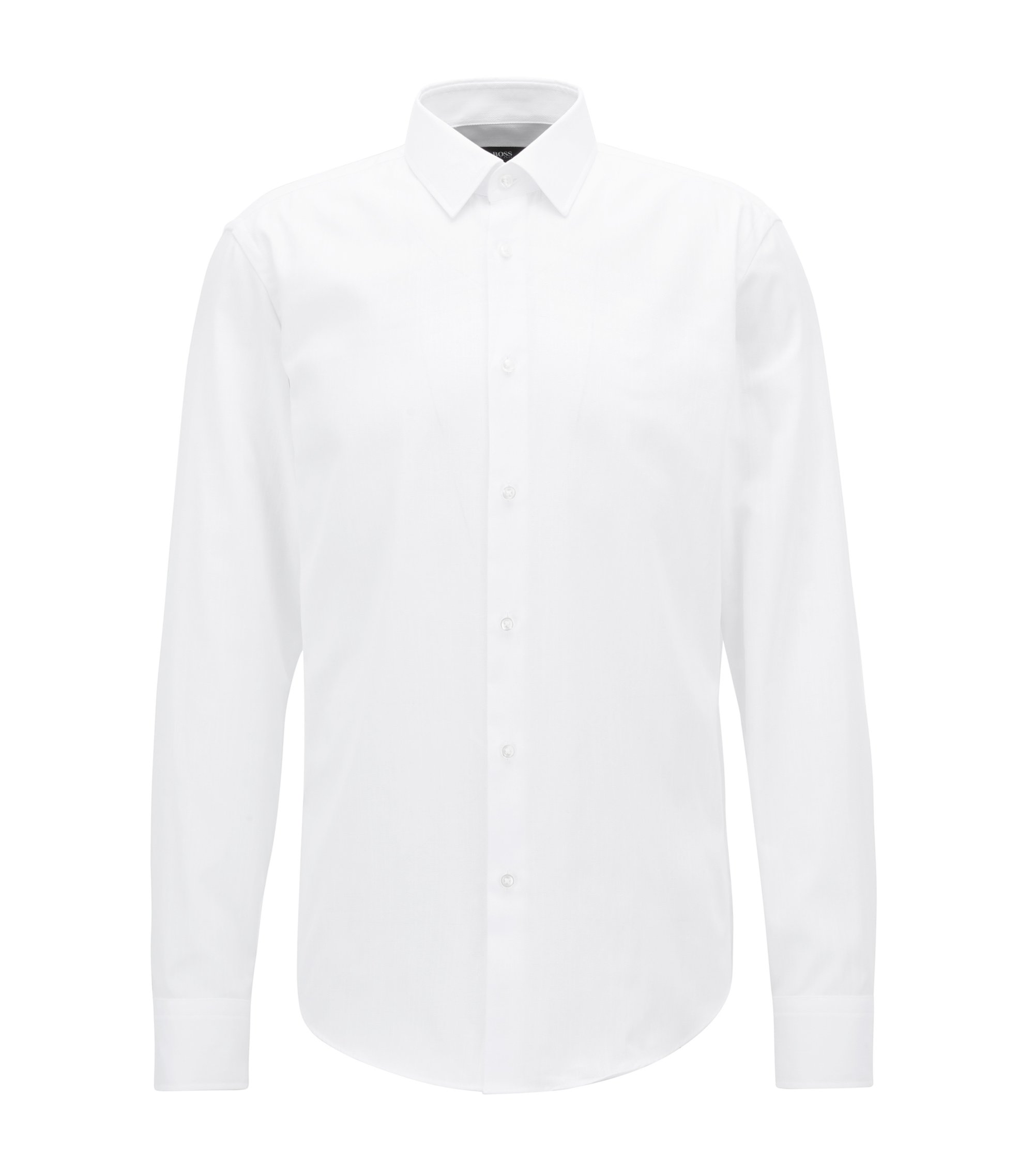 Regular-fit shirt in pure Oxford cotton, White