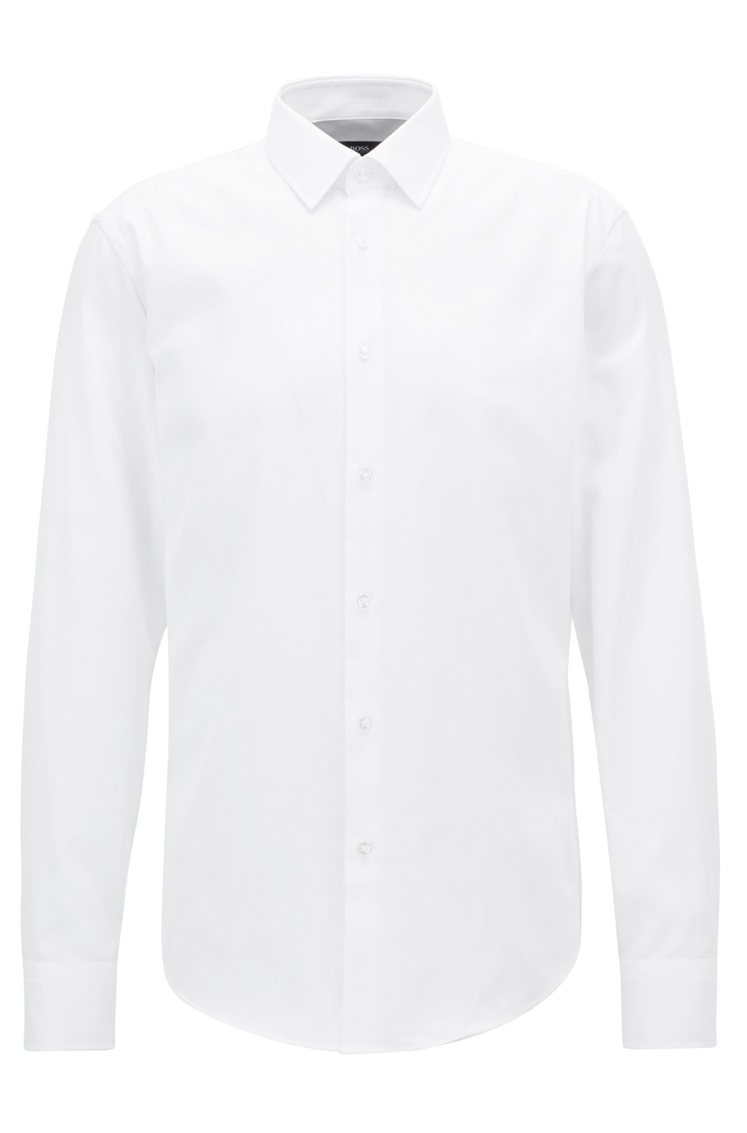 Camisa regular fit en puro algodón Oxford