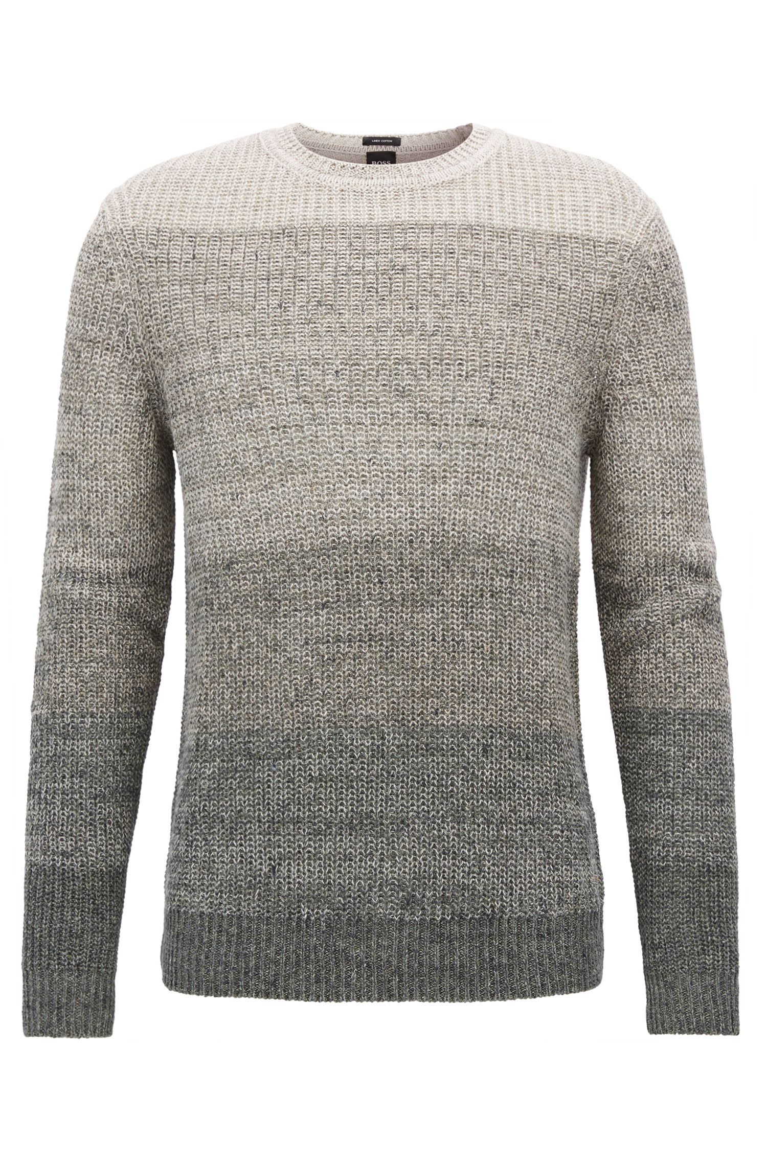 Jersey en mezcla de lino con textura de punto perlado