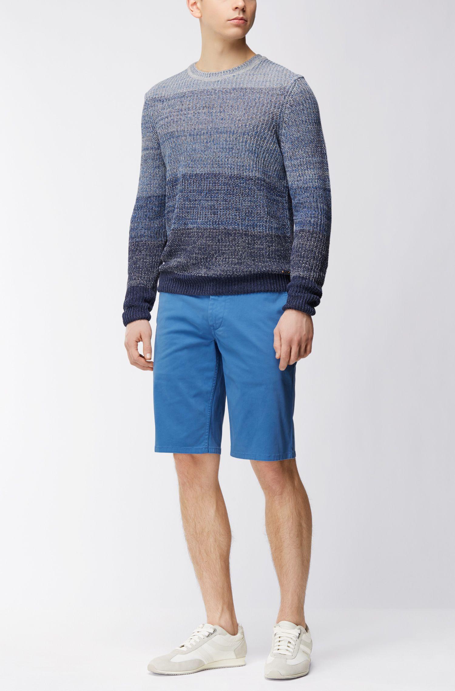 Pullover aus Leinen-Mix mit Baumwolle mit Perlfang-Struktur