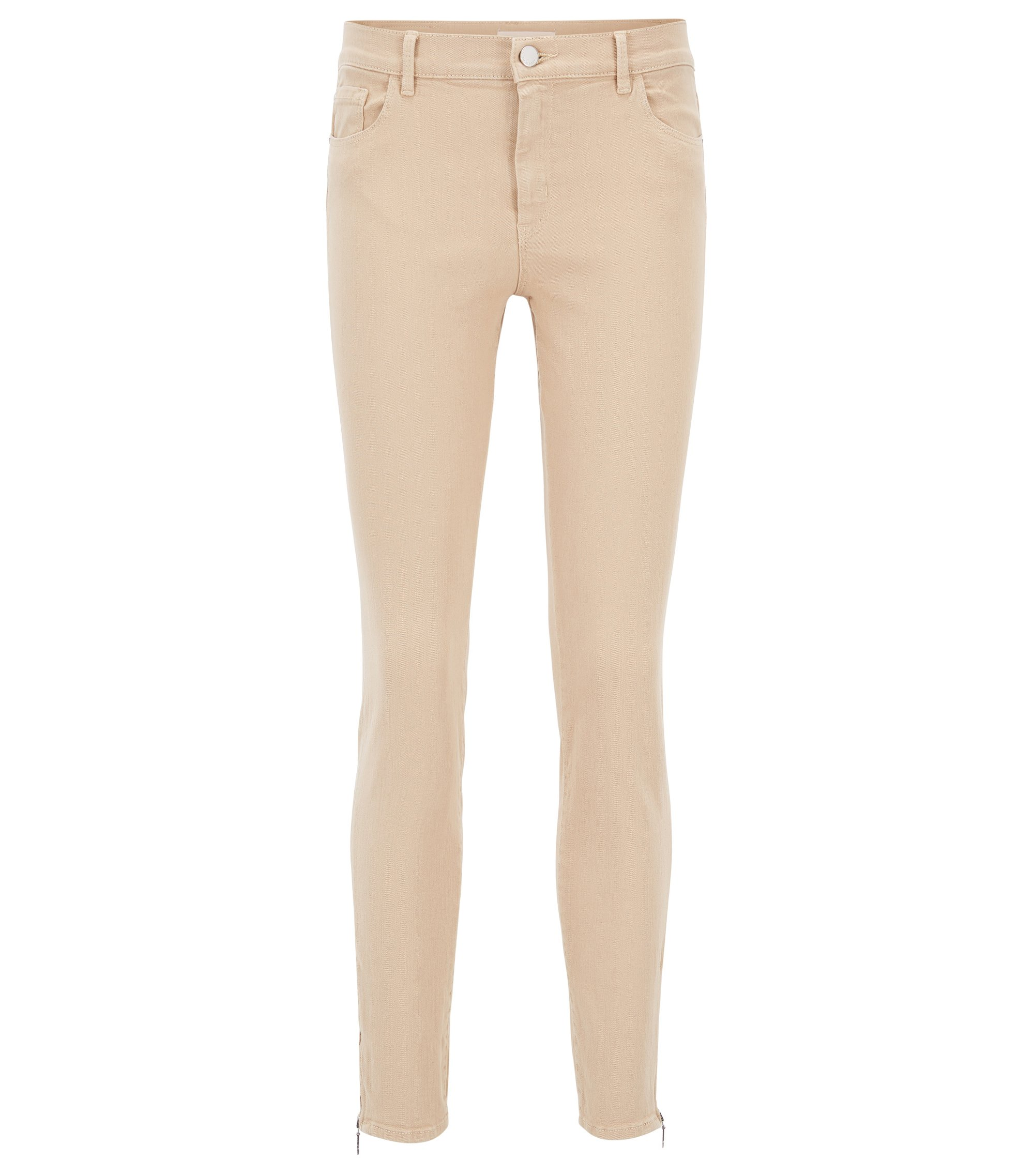 Slim-fit jeans in super-stretch denim, Beige