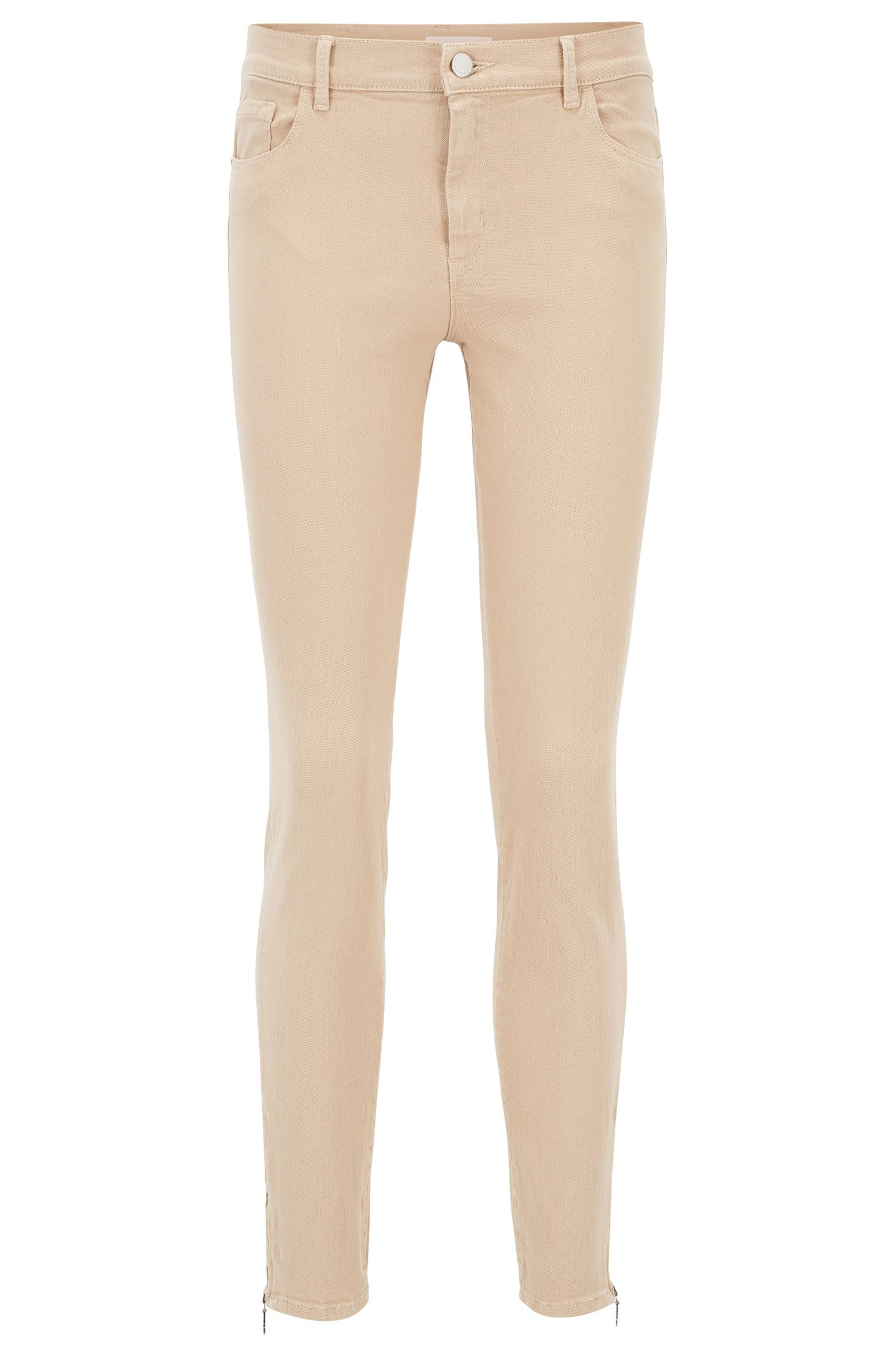 Slim-Fit Jeans aus Super-Stretch-Denim, Beige
