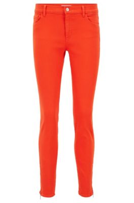 Jeans slim fit in denim super-elasticizzato, Rosso