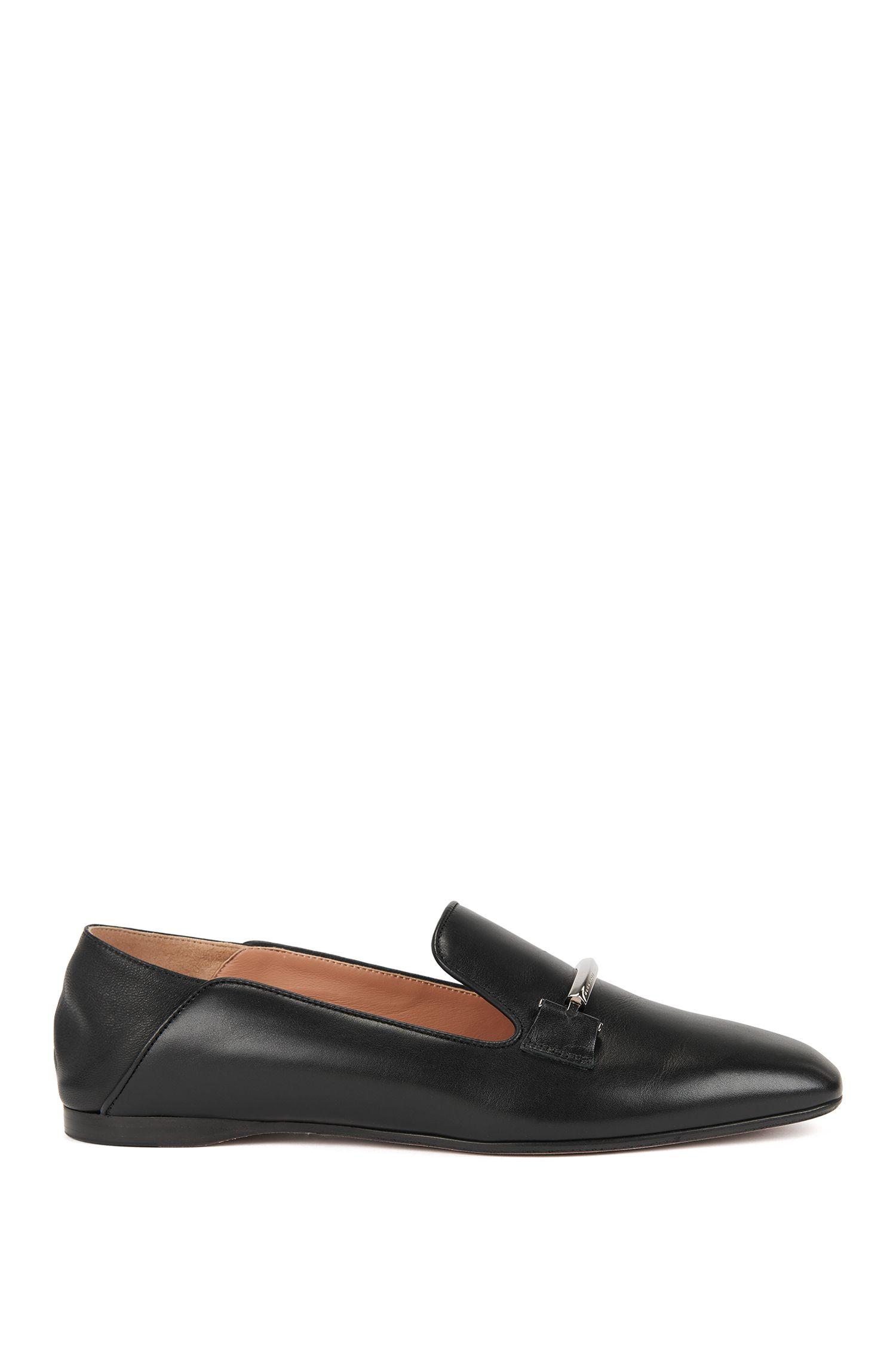 Loafer aus Leder mit umklappbarer Ferse