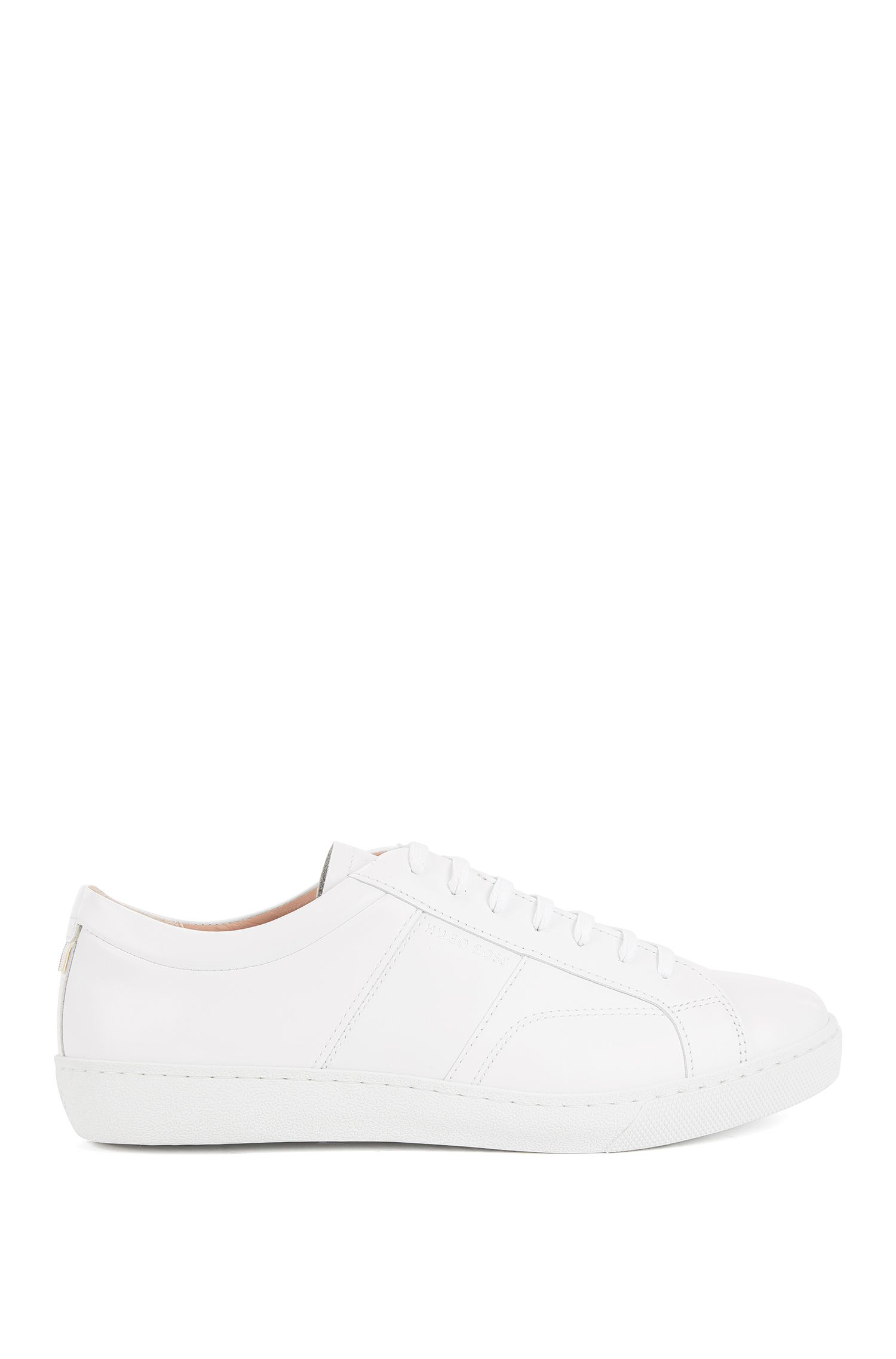 Sneakers low-top in pelle realizzata in Italia