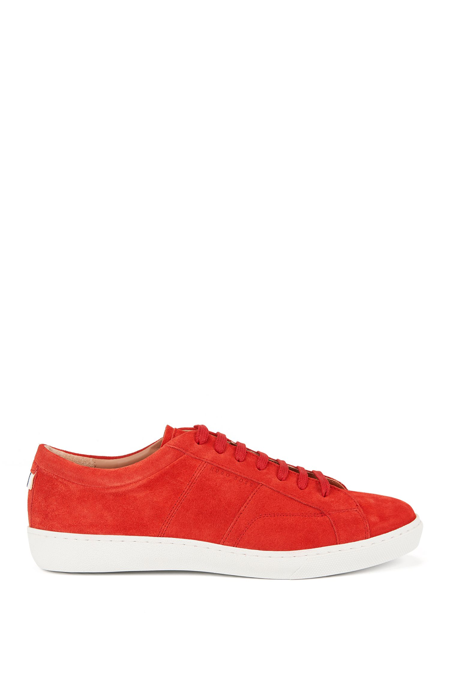 Low-top trainers in soft Italian suede