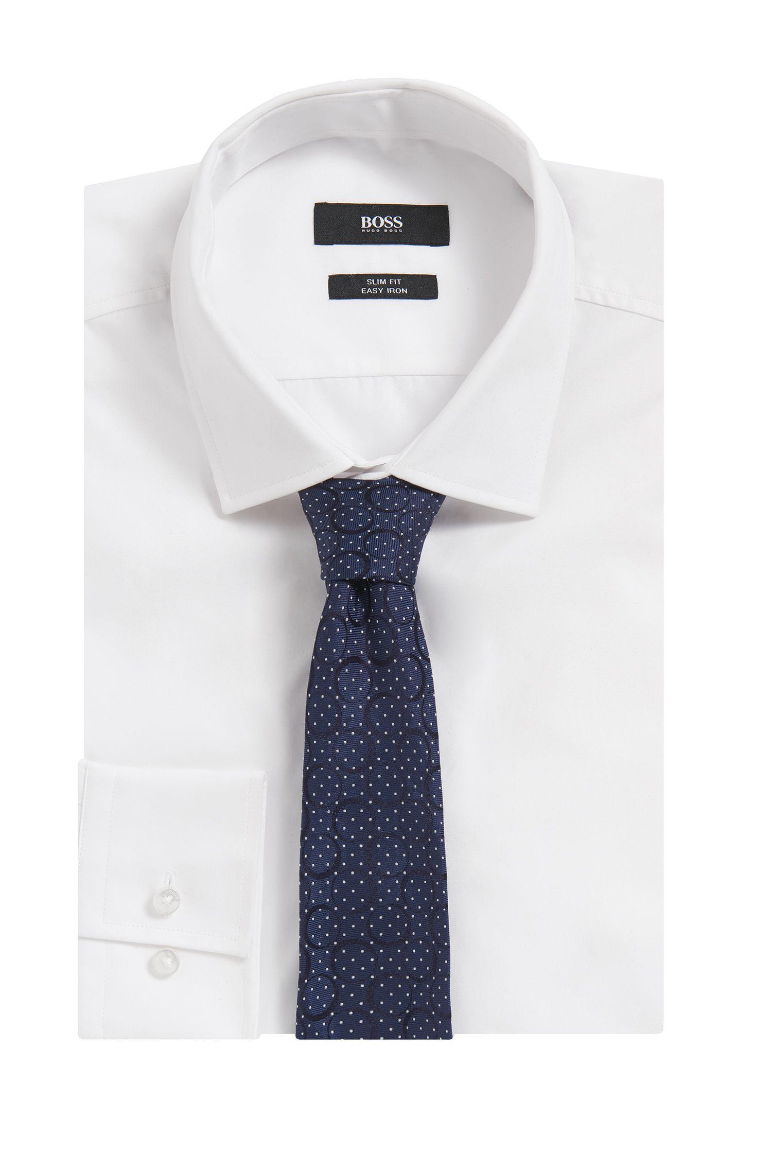 Cravatta realizzata in Italia in seta jacquard con motivo Paisley