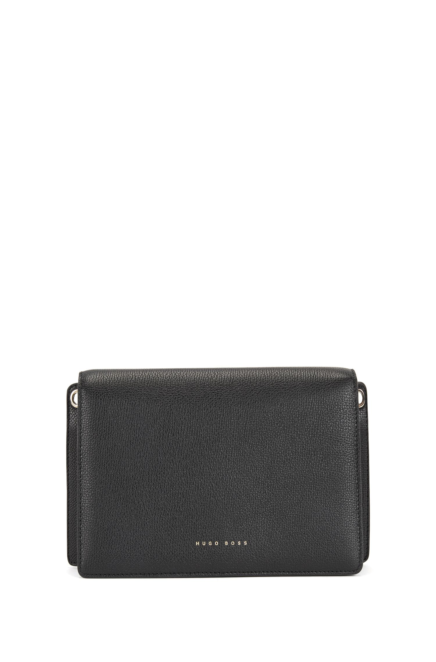Compact bag in grained Italian leather BOSS