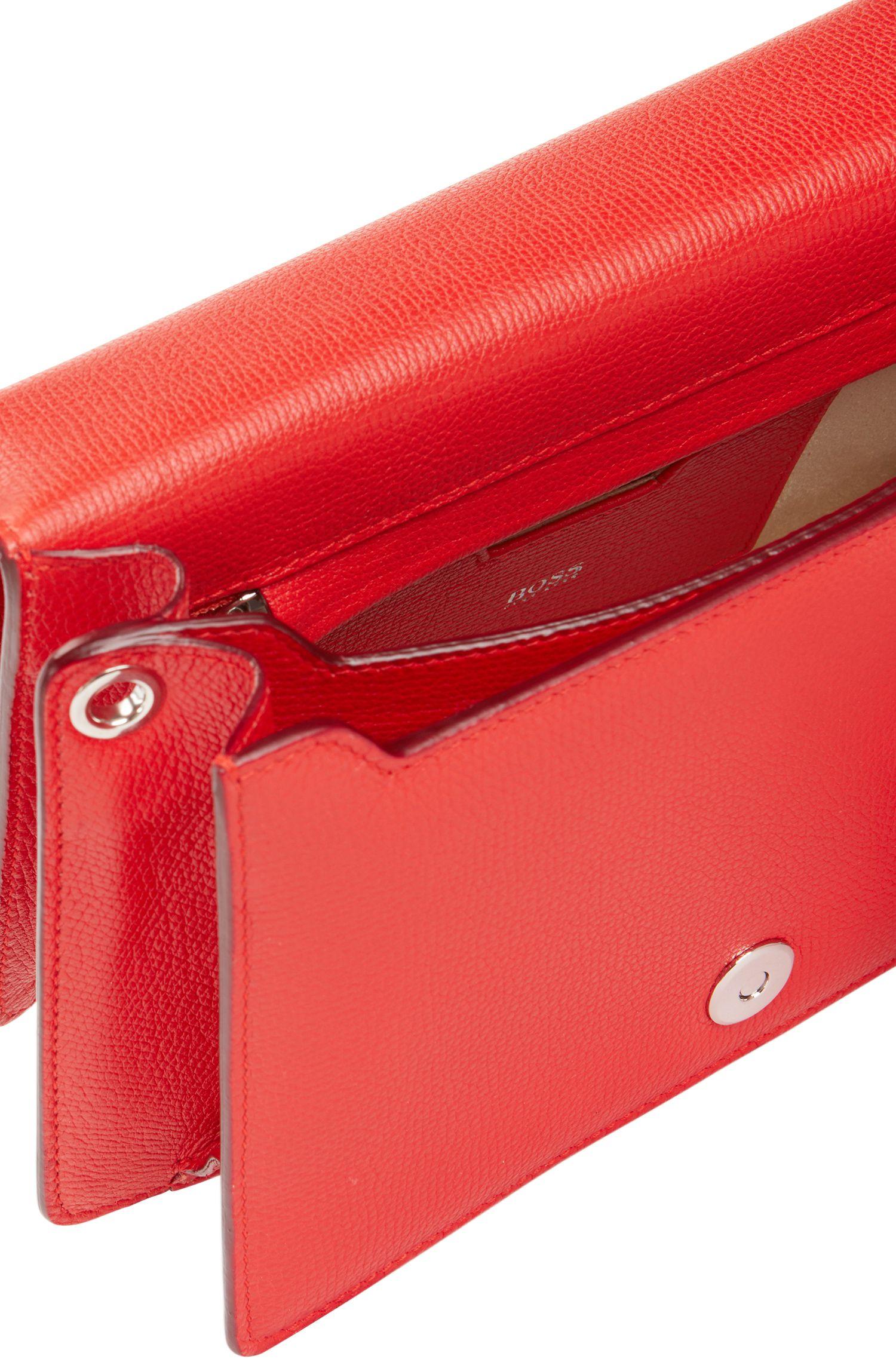 Crossbody bag in grained Italian calf leather