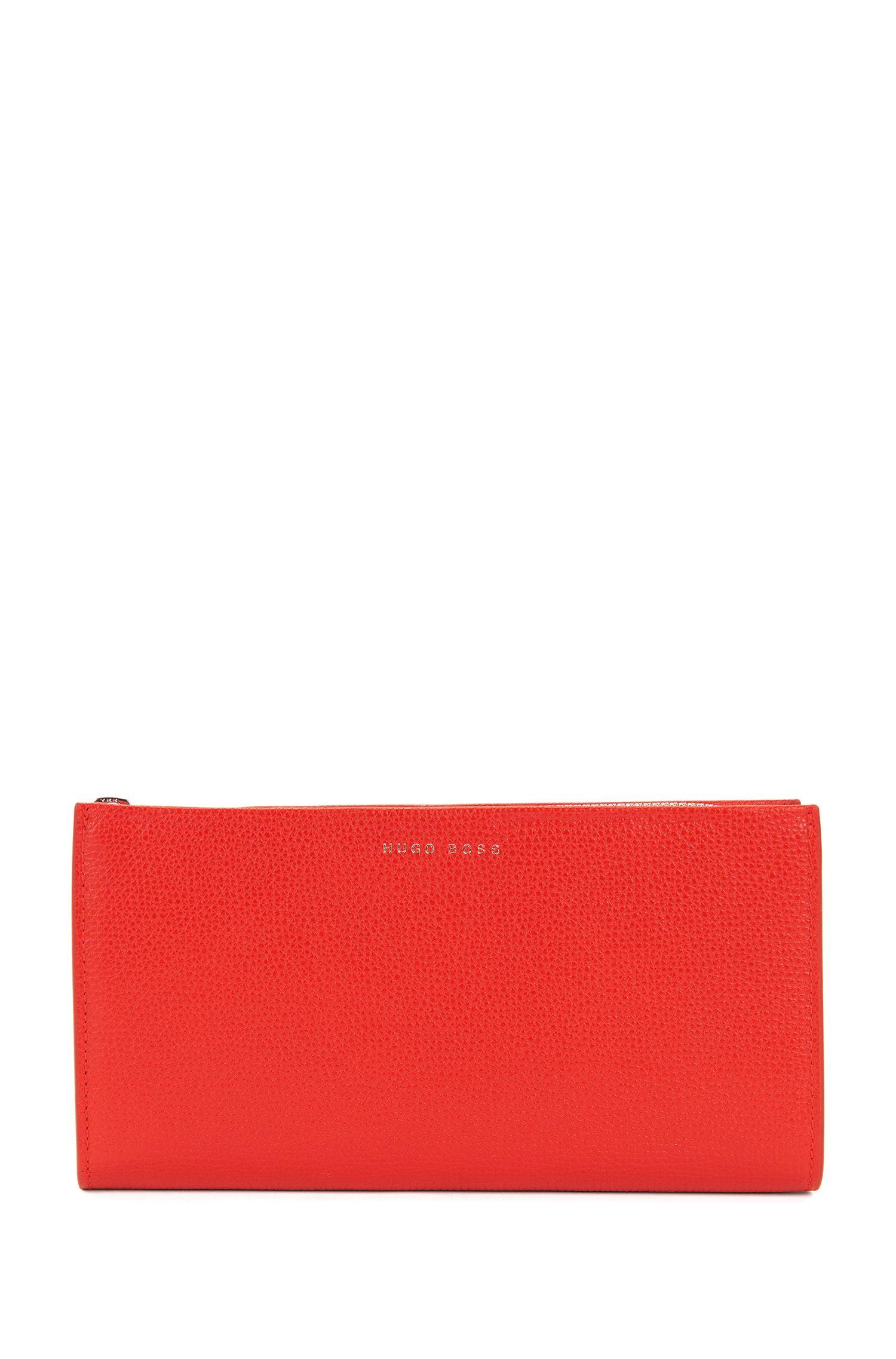Zip-around wallet in grained Italian leather