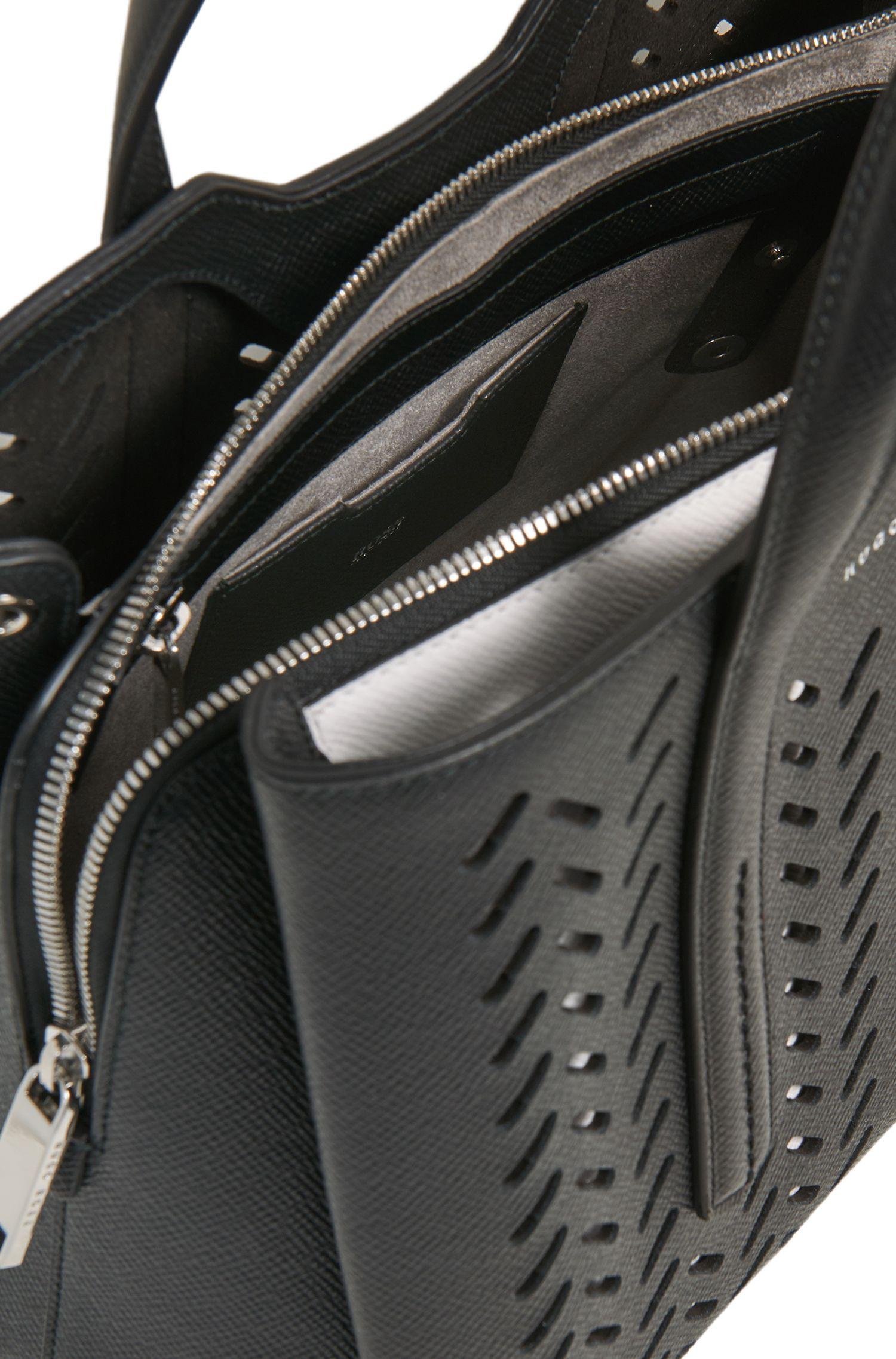 Tote Bag aus gelasertem Saffiano-Leder