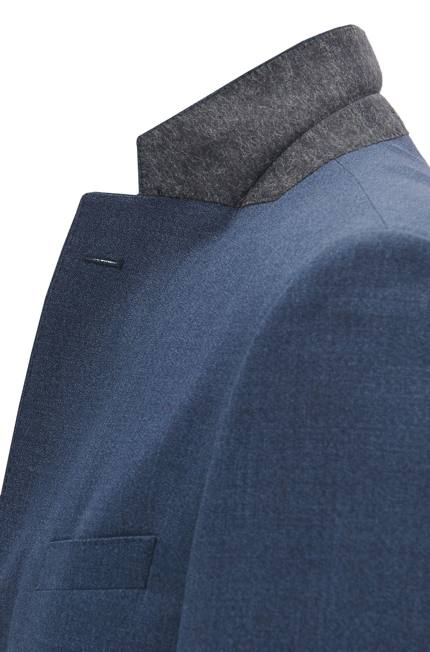 Regular-fit suit in mélange virgin wool