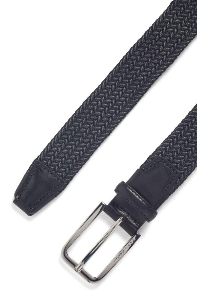 Cintura intrecciata con dettagli in metallo lucido