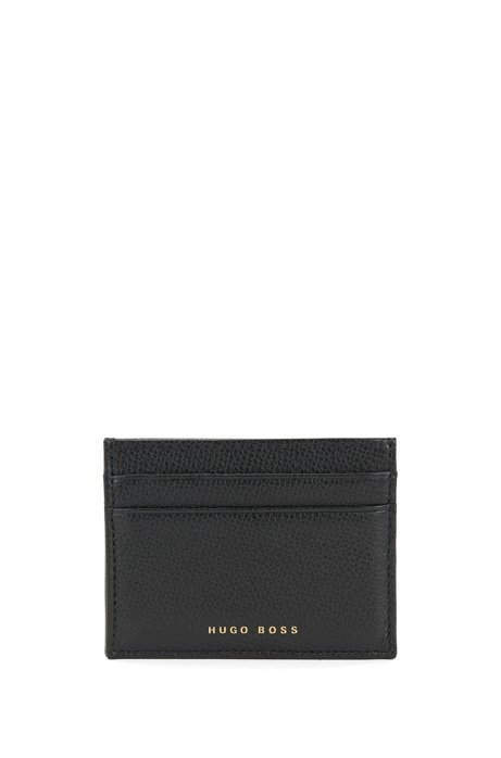 Structured card holder in Italian leather BOSS 3QRGDu64Oa