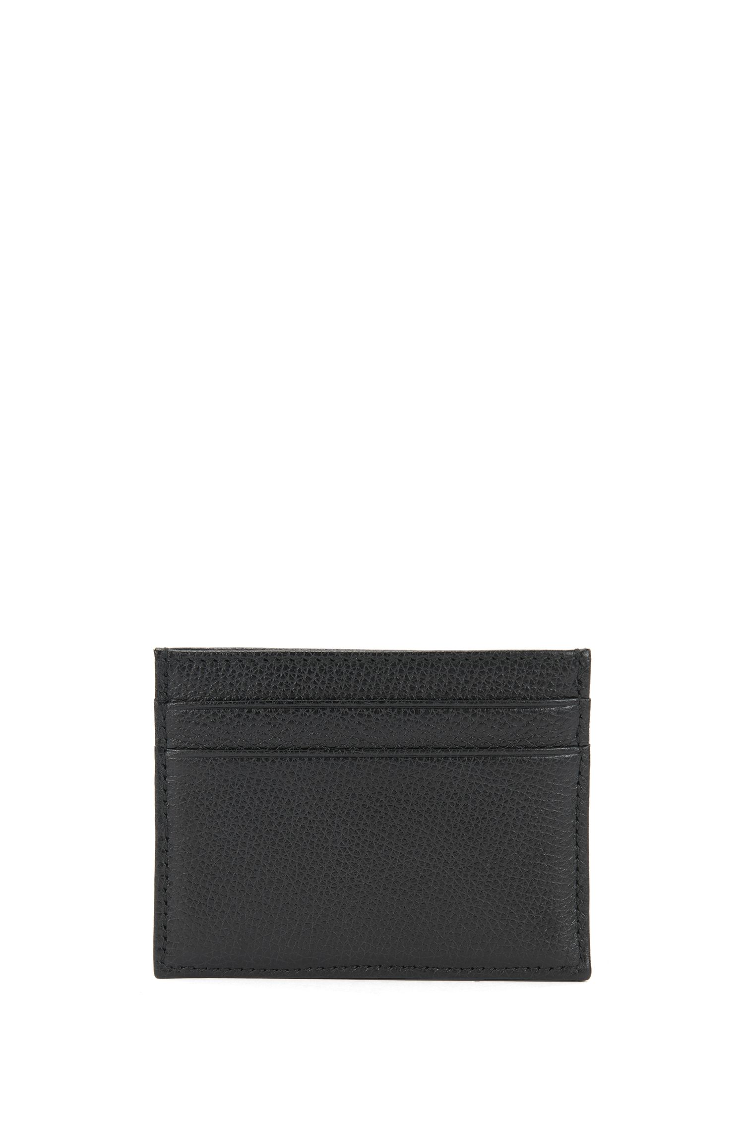 Structured card holder in Italian leather