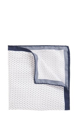 Italian-made geometric-printed pocket square in pure silk BOSS With Paypal Cheap Price Outlet In China Limited Edition Cheap Price Cheap For Nice S12sE