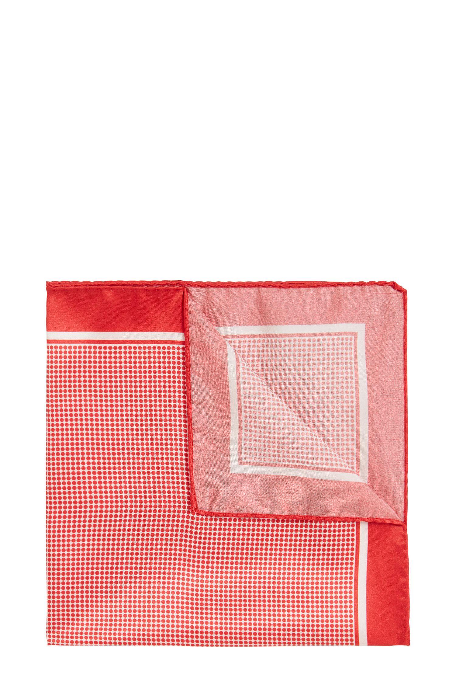 Pañuelo de bolsillo fabricado en Italia con estampado de lunares