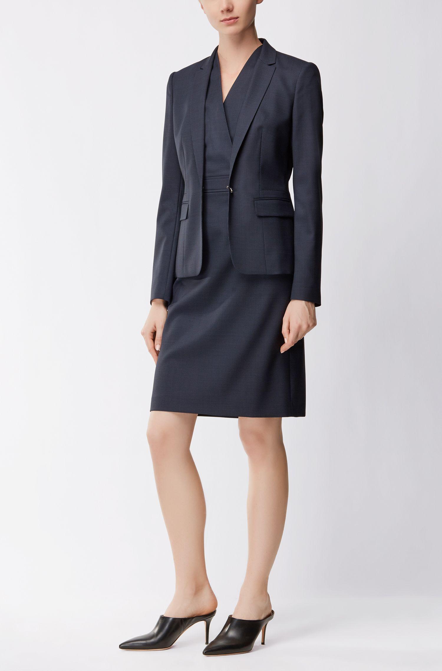 Veste Regular Fit en laine stretch à motif