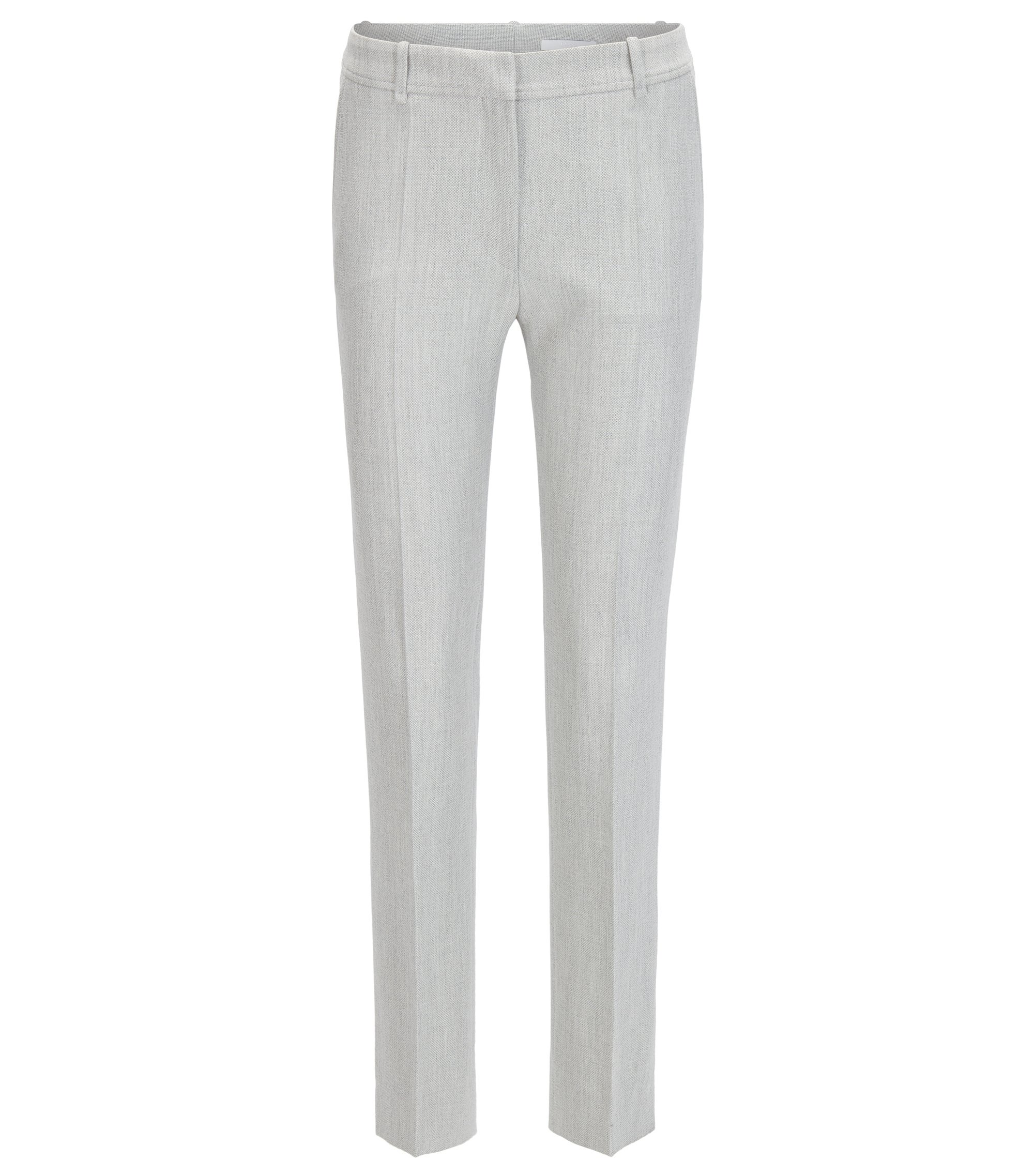 Regular-fit trousers in a stretch technical blend, Light Grey