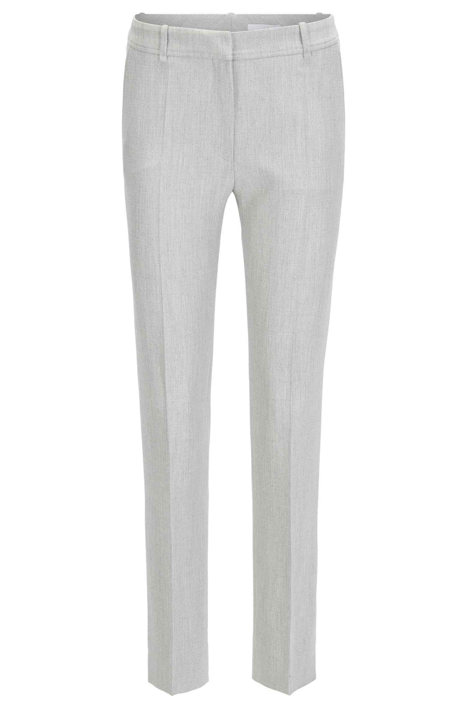 Pantaloni regular fit in tessuto misto tecnico elasticizzato