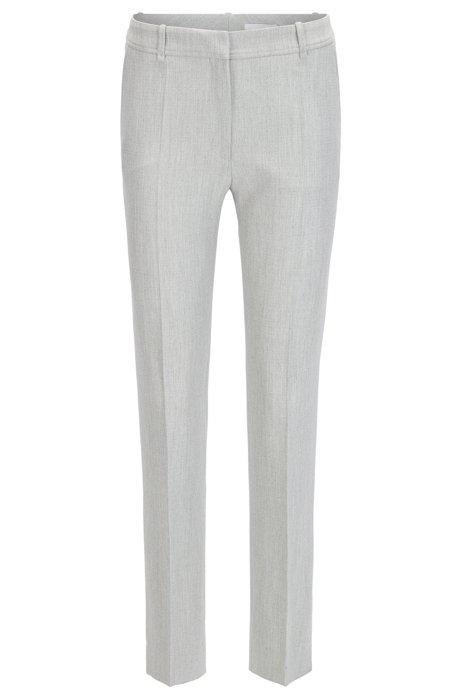 Pantalon Régulière En Forme Dans Un Bossage De Mélange Technique Extensible 01covz
