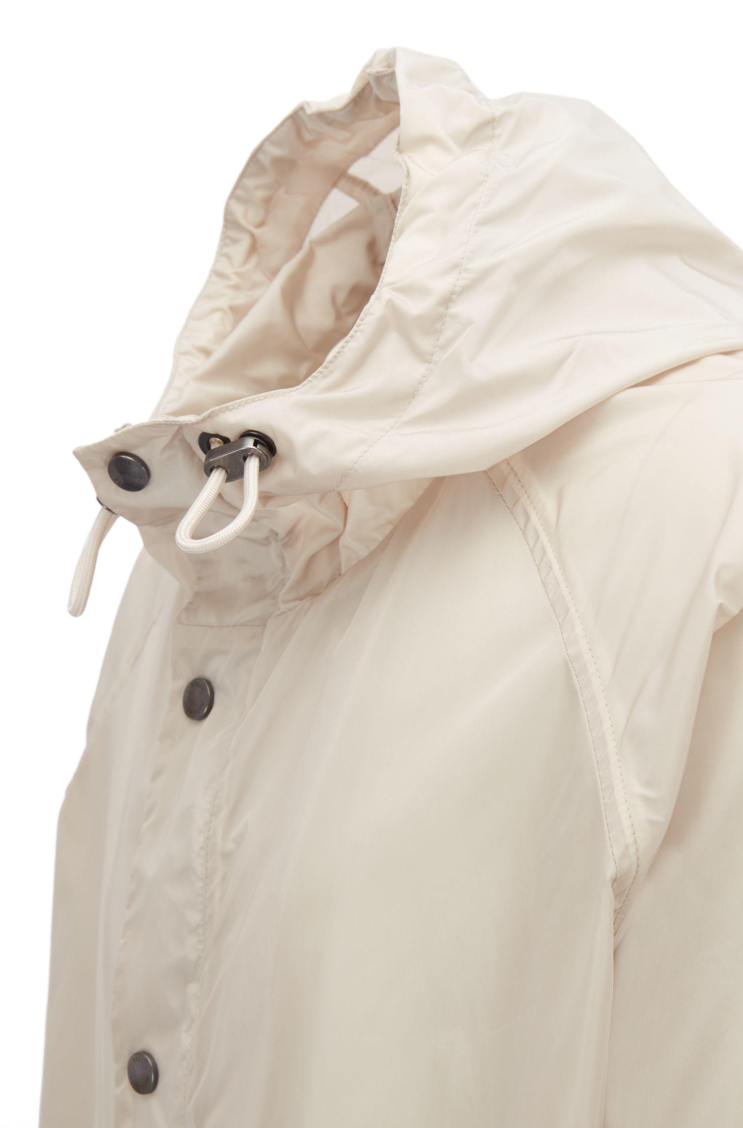 Water-repellent lightweight hooded windbreaker jacket , Natural