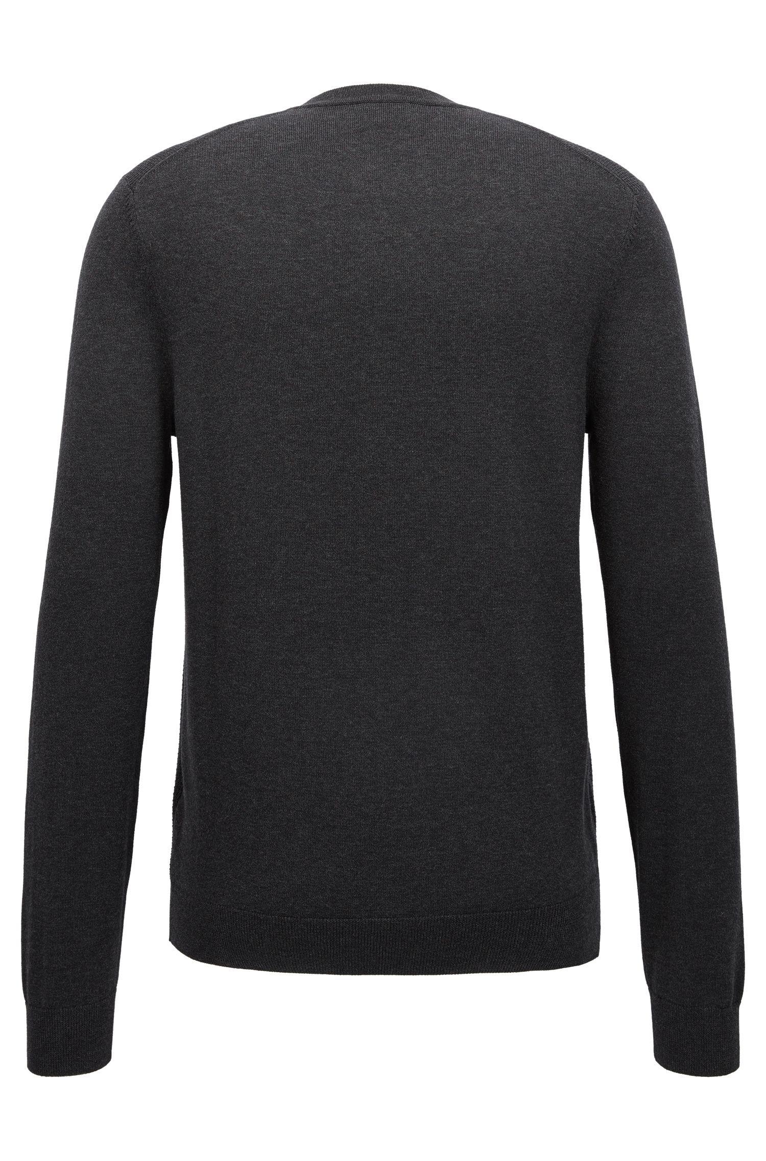 Pullover aus Baumwolle mit strukturierter Vorderseite