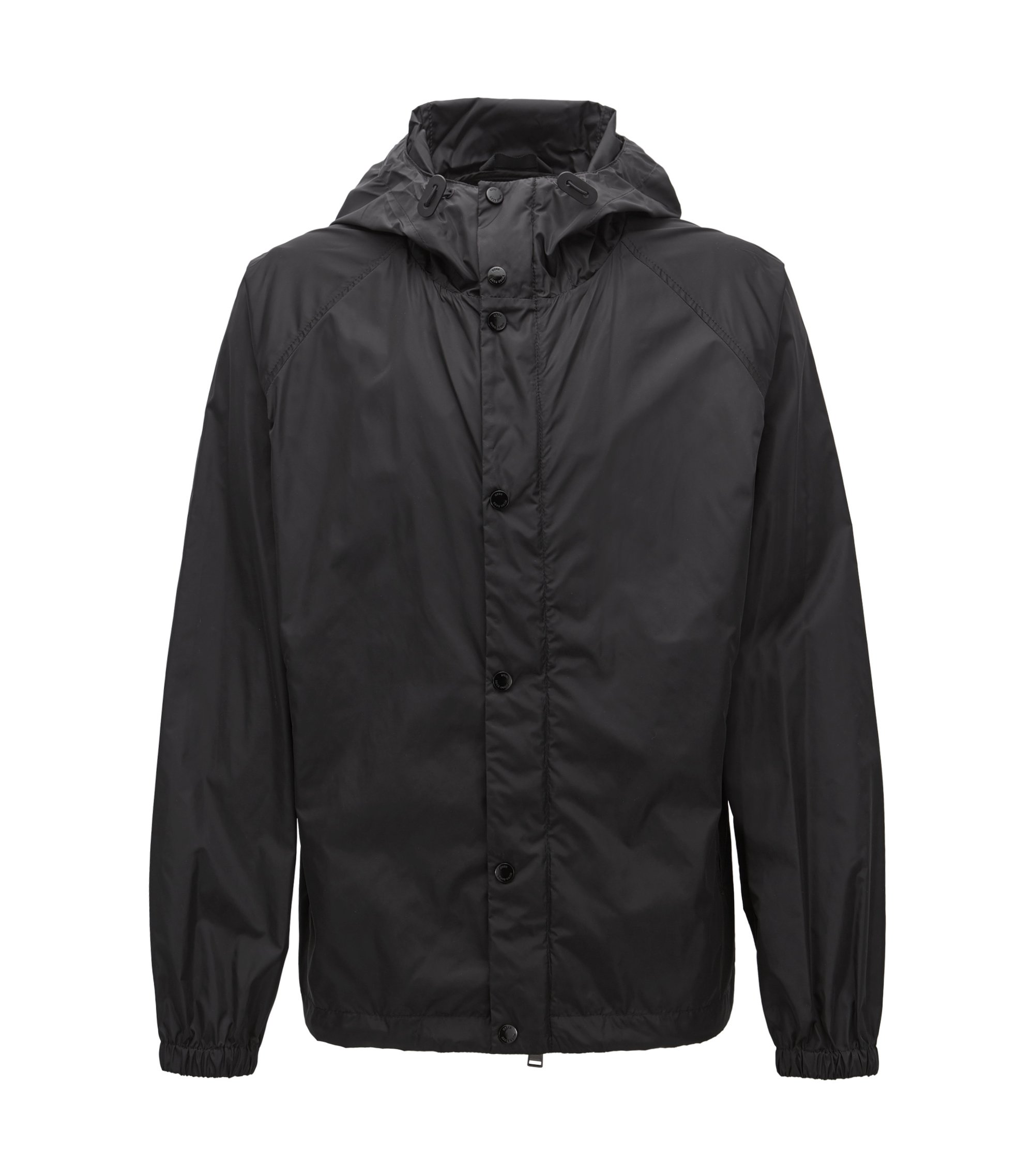 Windbreaker jacket in technical water-repellent fabric, Schwarz