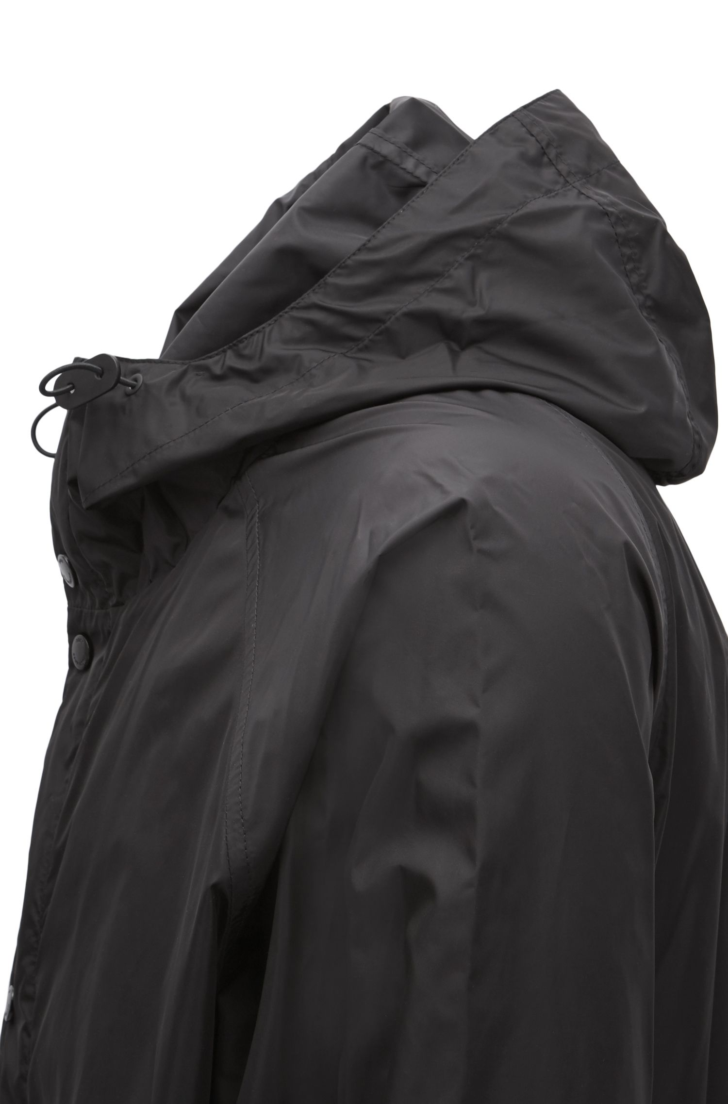Windbreaker jacket in technical water-repellent fabric