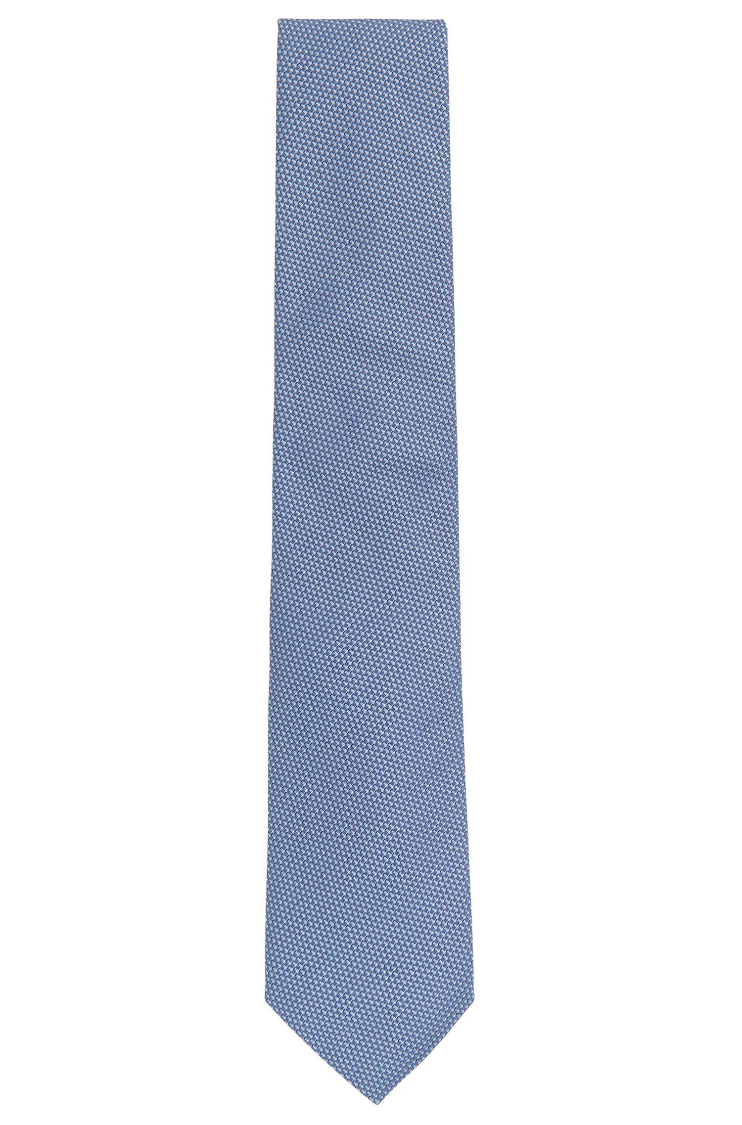Corbata de jacquard de seda con microestampado fabricada en Italia