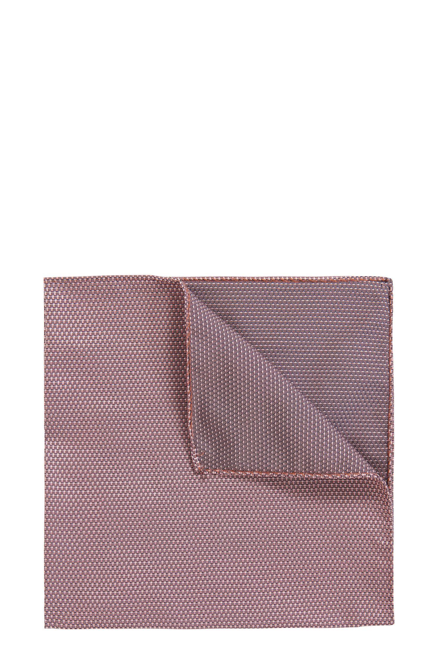 Zweiseitiges Einstecktuch aus Seiden-Jacquard mit feinem Muster
