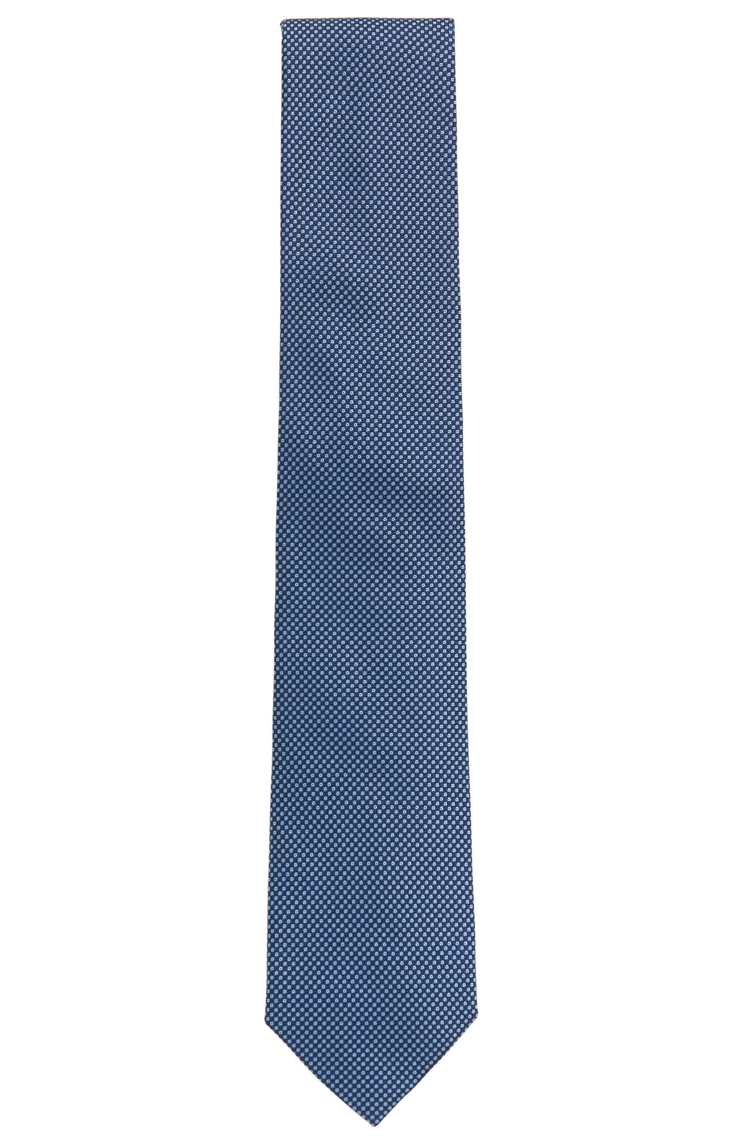 Italian-made tie in patterned silk jacquard