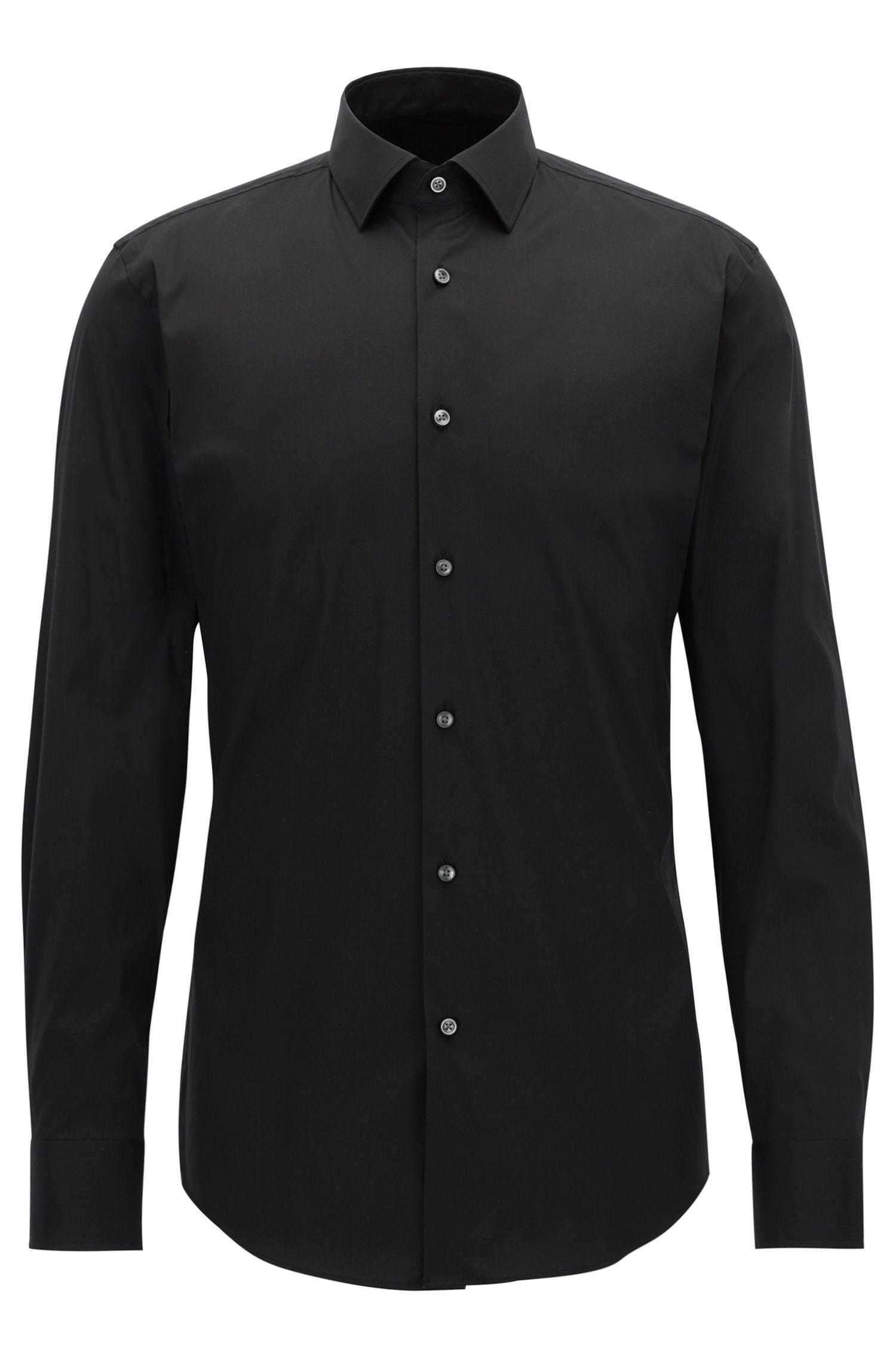 Slim-fit overhemd in een popeline van een stretchkatoenmix