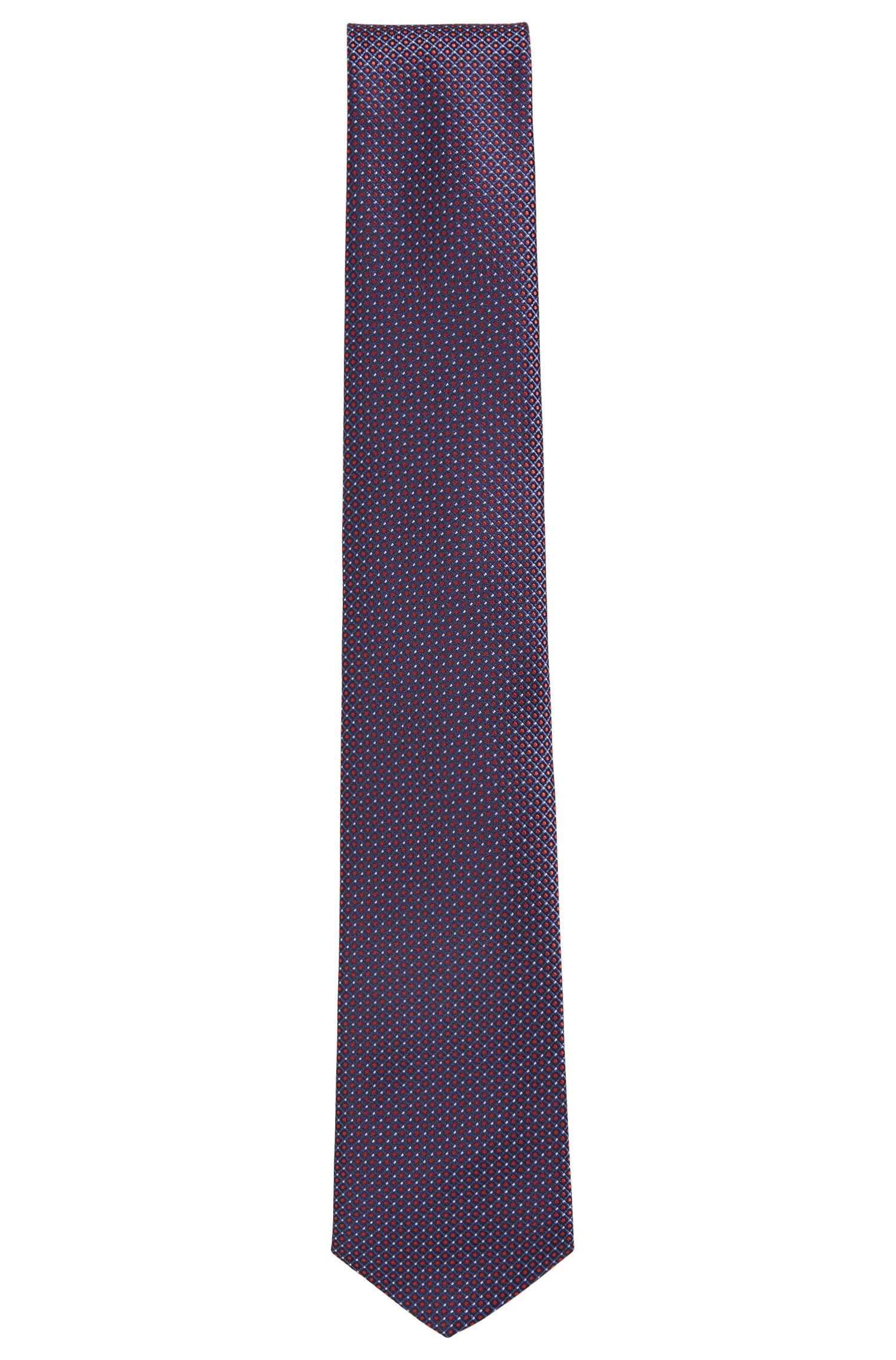 Silk tie with dot print