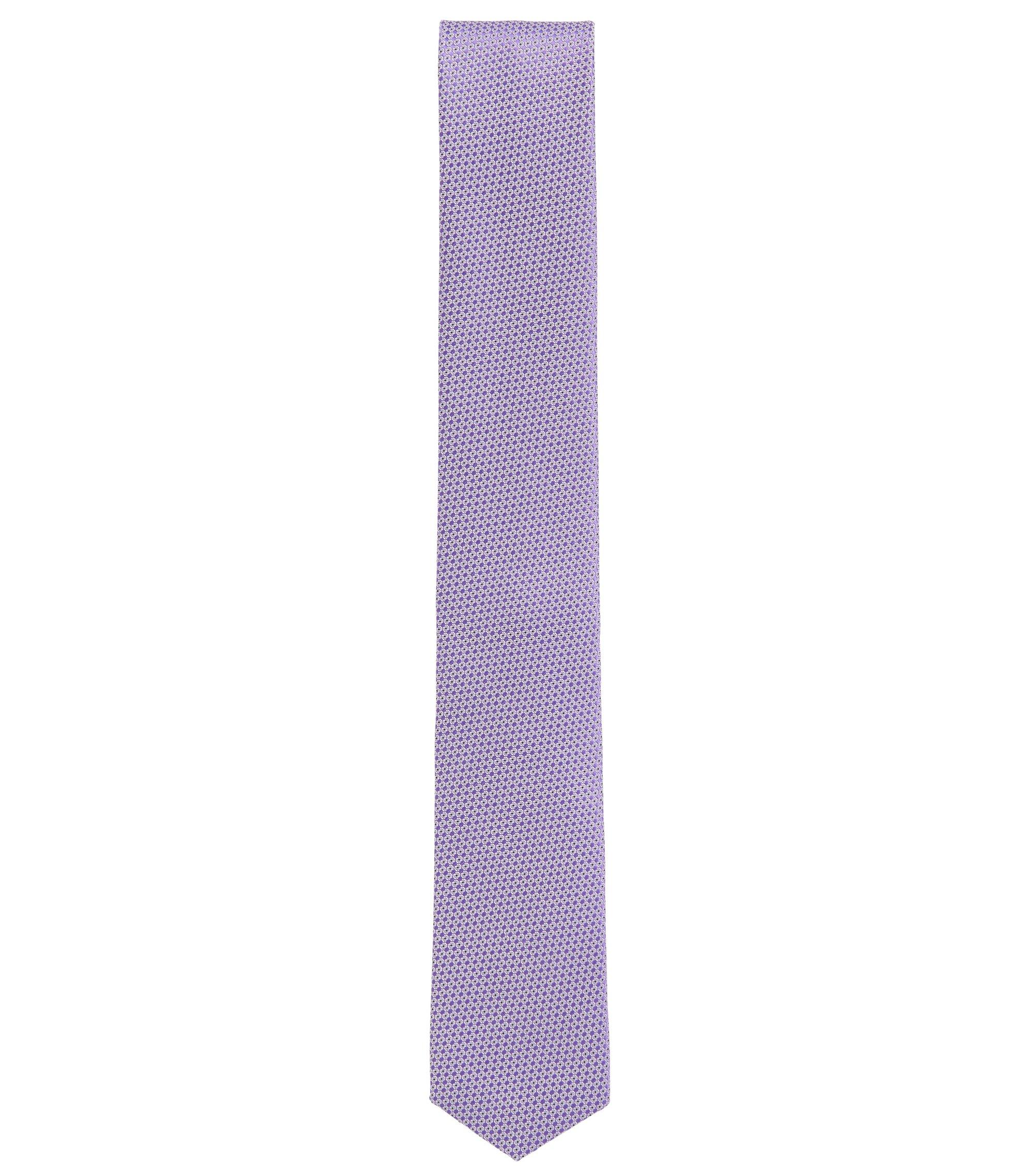 Gemusterte Krawatte aus wasserabweisender Seide, Lila