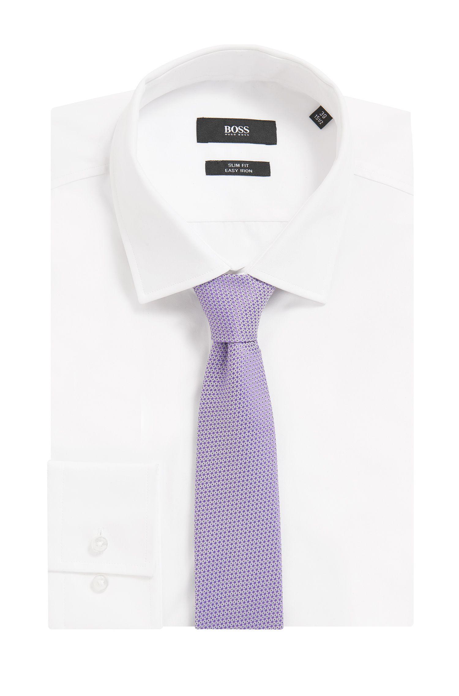 Cravate à micro-motif en soie imperméable