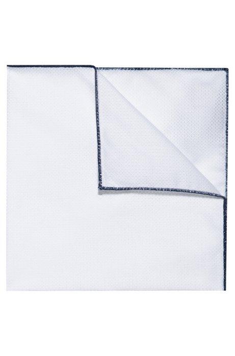 Pochette en coton à bords contrastants, Bleu foncé