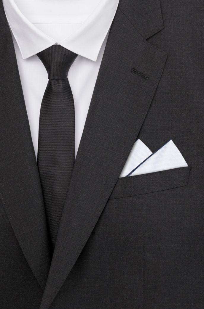 Pochette en coton à bords contrastants