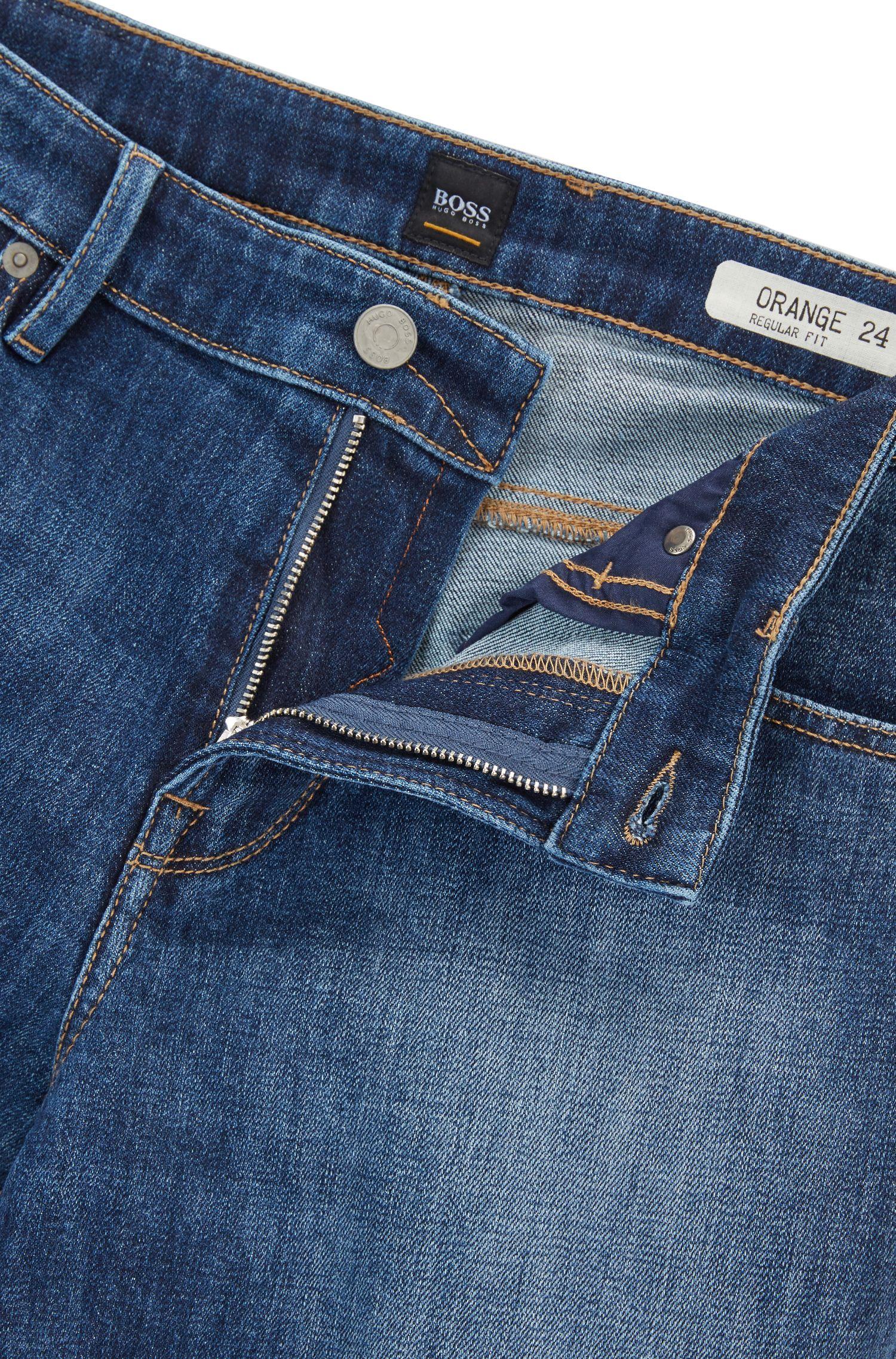 Regular-fit jeans van stretchdenim
